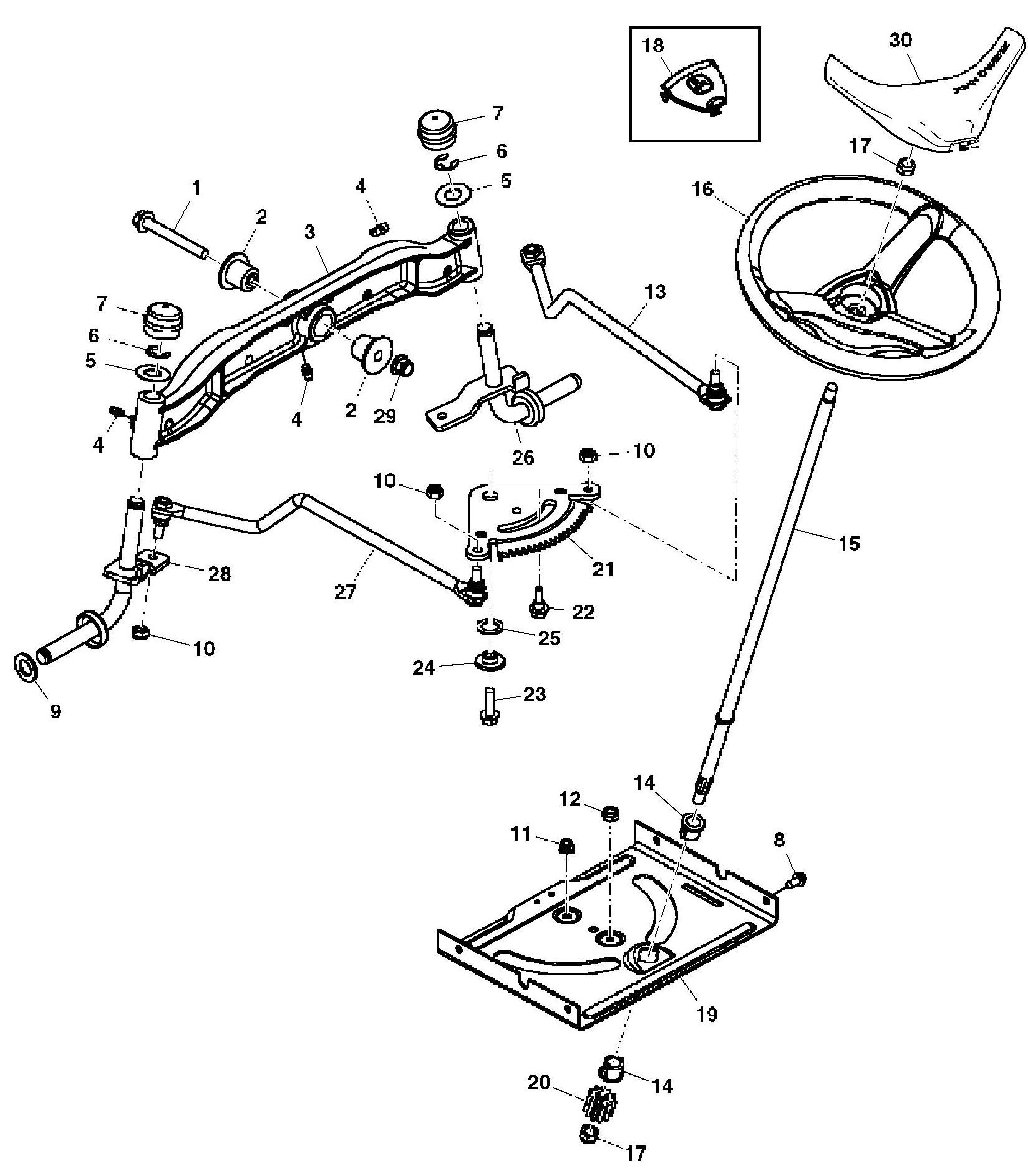 John Deere L130 Engine Diagram X140 Garden Tractor Spare