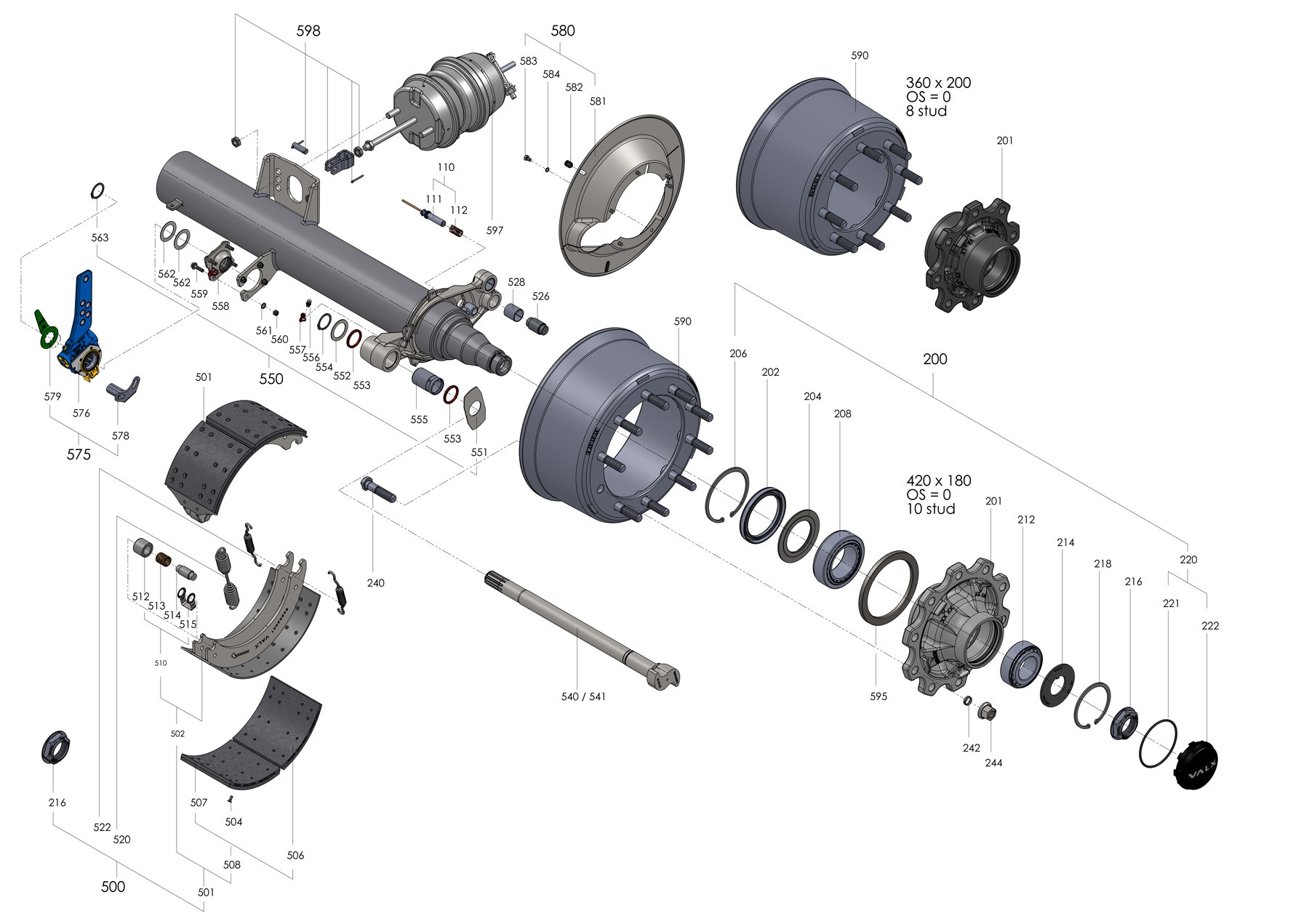 Trailer Wheel Hub assembly Diagram Trailer Wheel Hub assembly Diagram Drum Axle Parts Valx Trailer