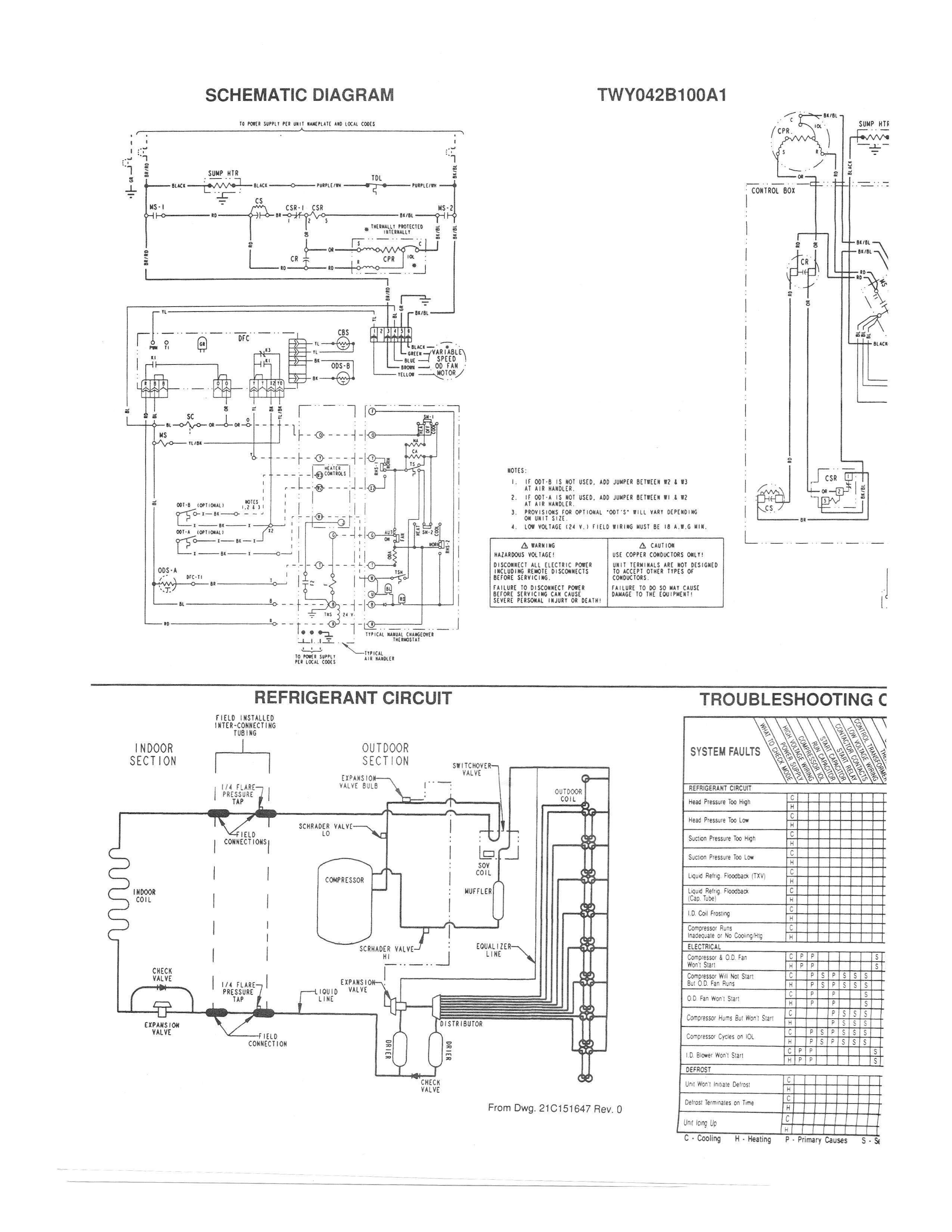 Wiring Diagram for Trane Air Conditioner Mcquay Air Conditioner ...