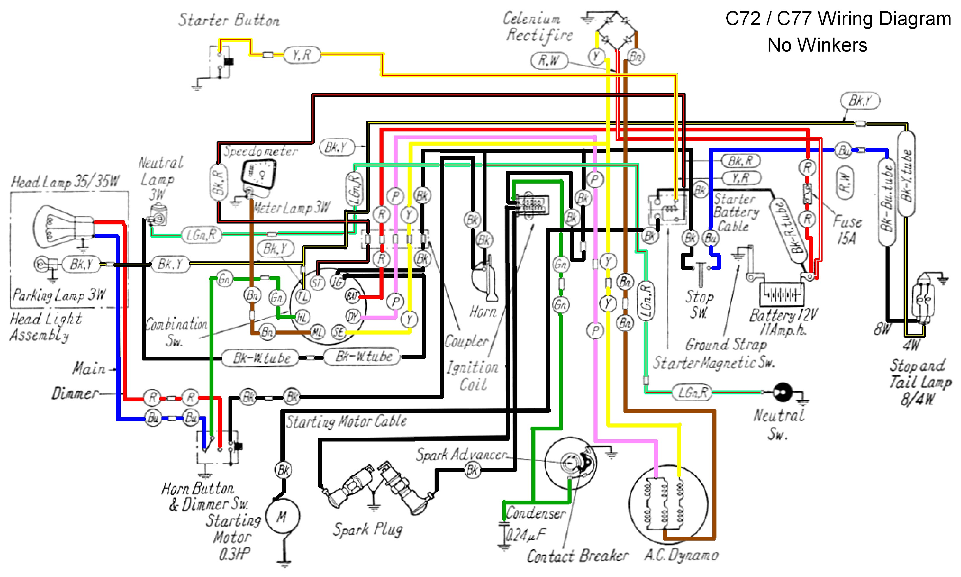 R6 Wiring Diagram Honda 150 Site Ch 80 Data 1980 Ct70 Cb750 Simple