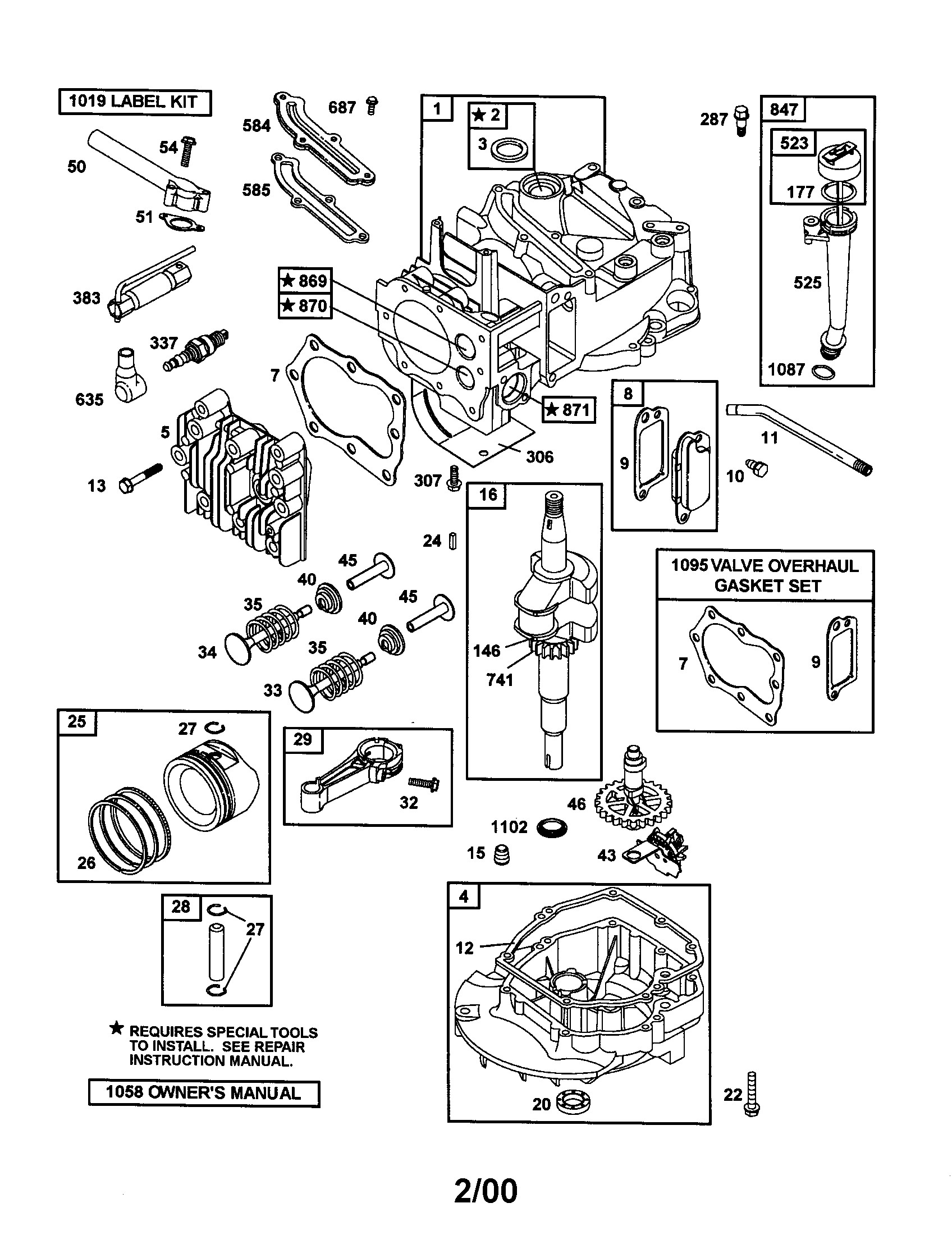 Briggs Stratton Small Engine Parts Diagram Briggs Stratton Engine