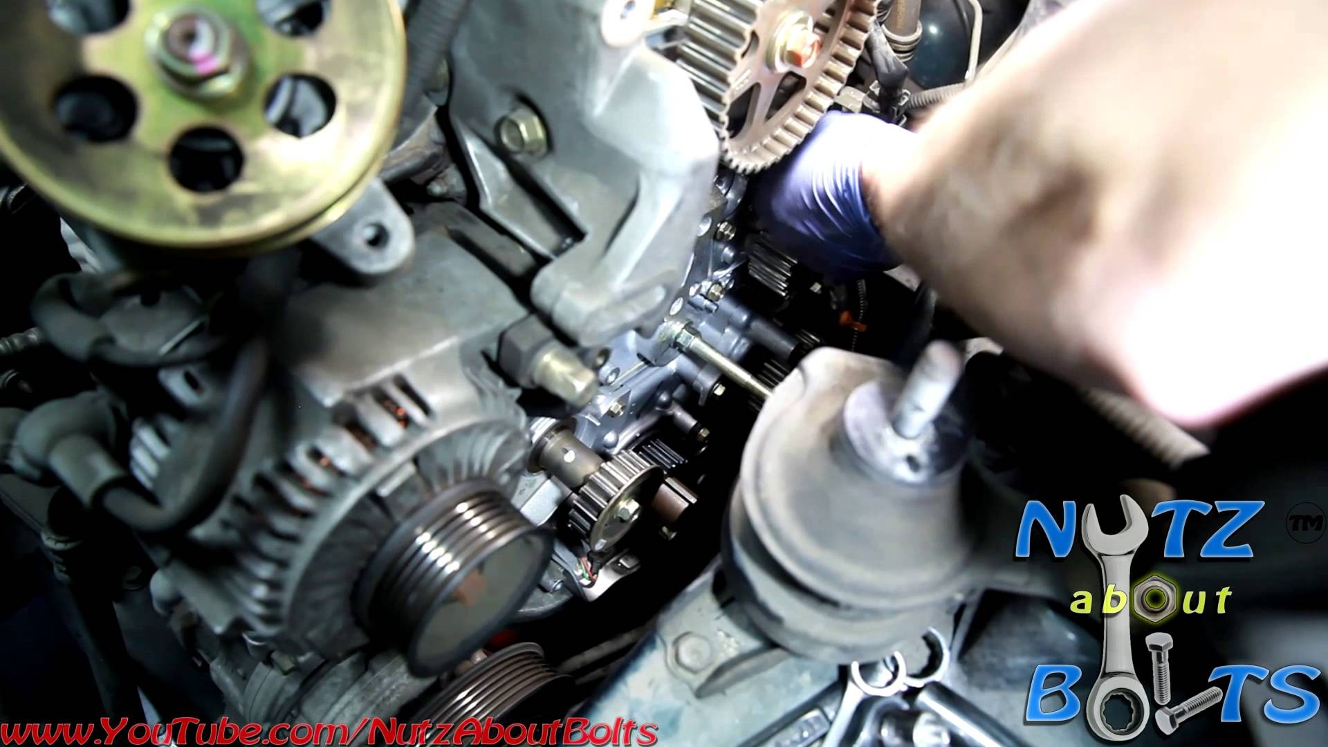 1993 Honda Accord Engine Diagram 1995 Cr Fuse Box 1998 2002 Timing Belt Replacement With Water Pump Of