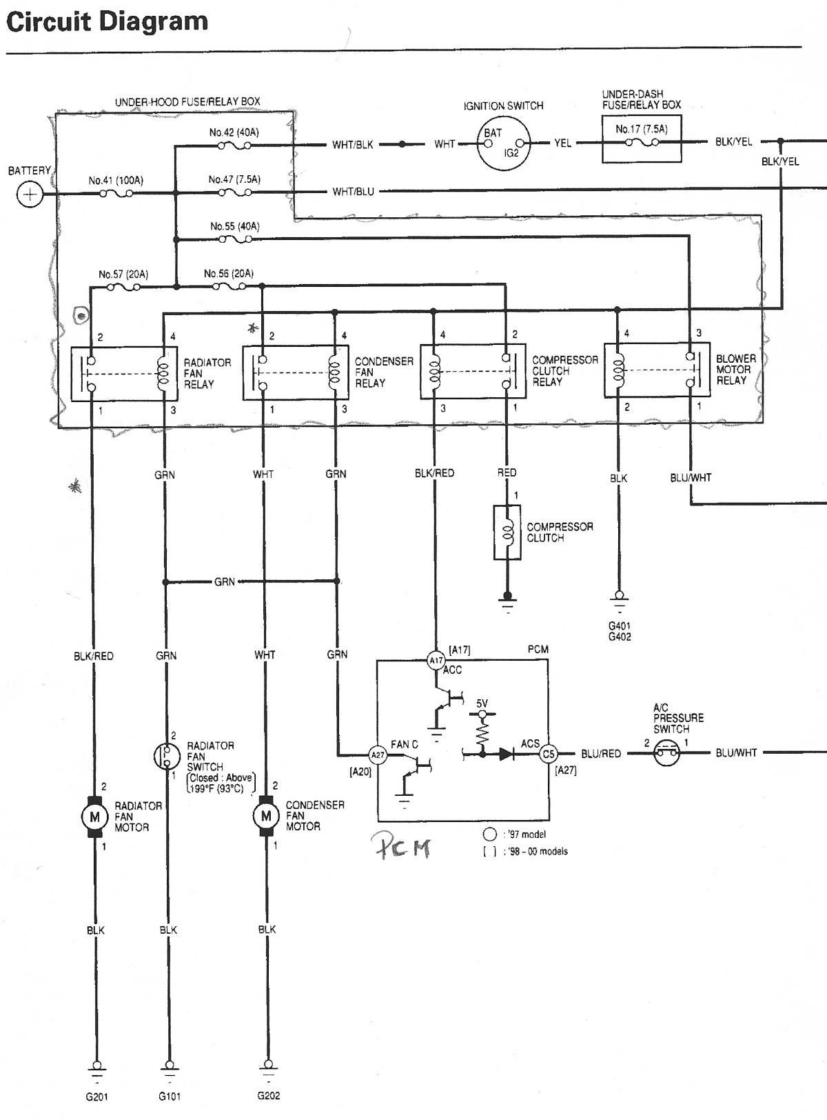 1994 Honda Accord Ac Wiring Diagram Worksheet And 94 Images Gallery