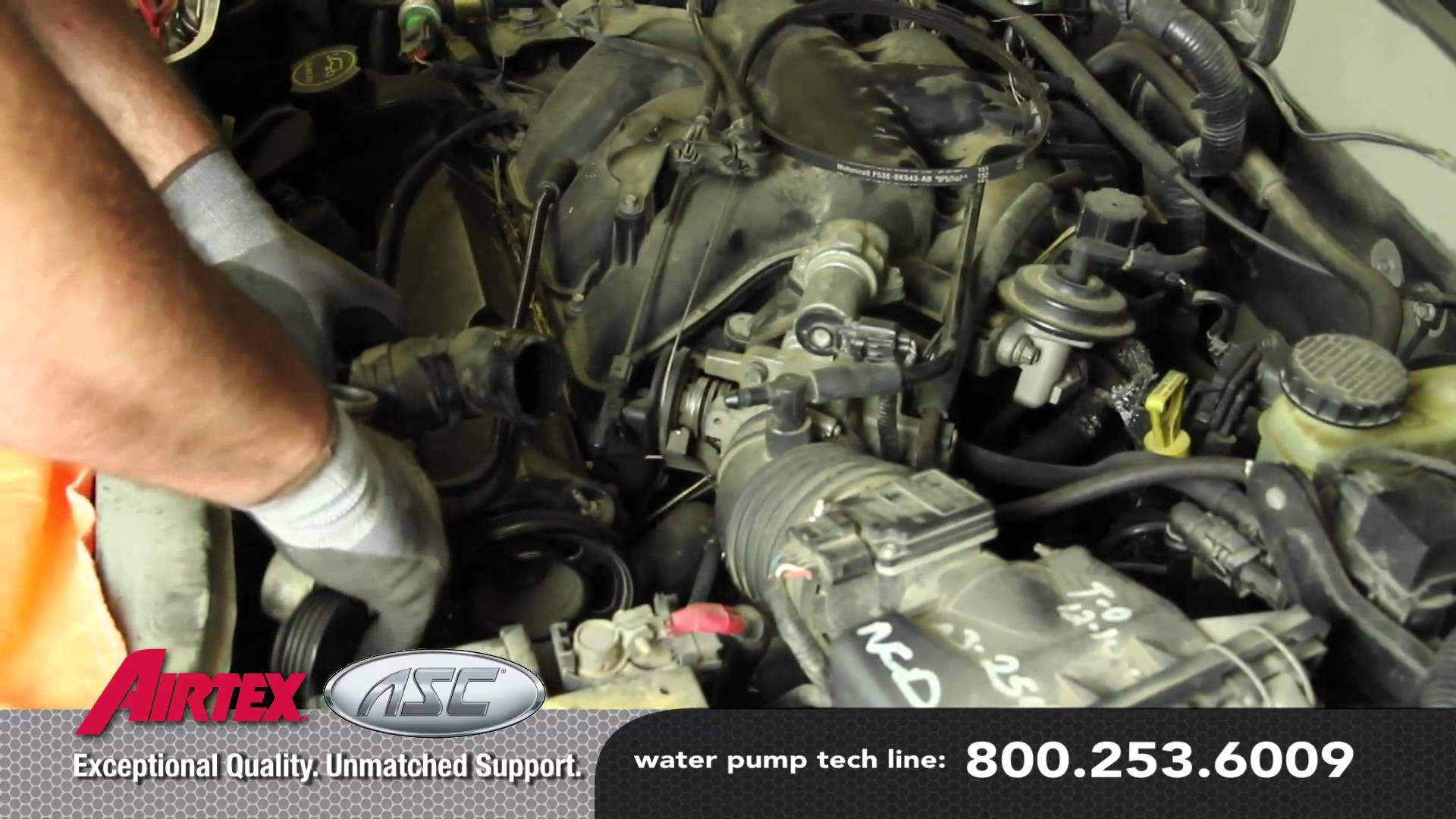 2000 Mercury Cougar Engine Diagram Serpentine Belt Replacement Ford Contour How To Install A Water Pump 3 0l V6 Wp