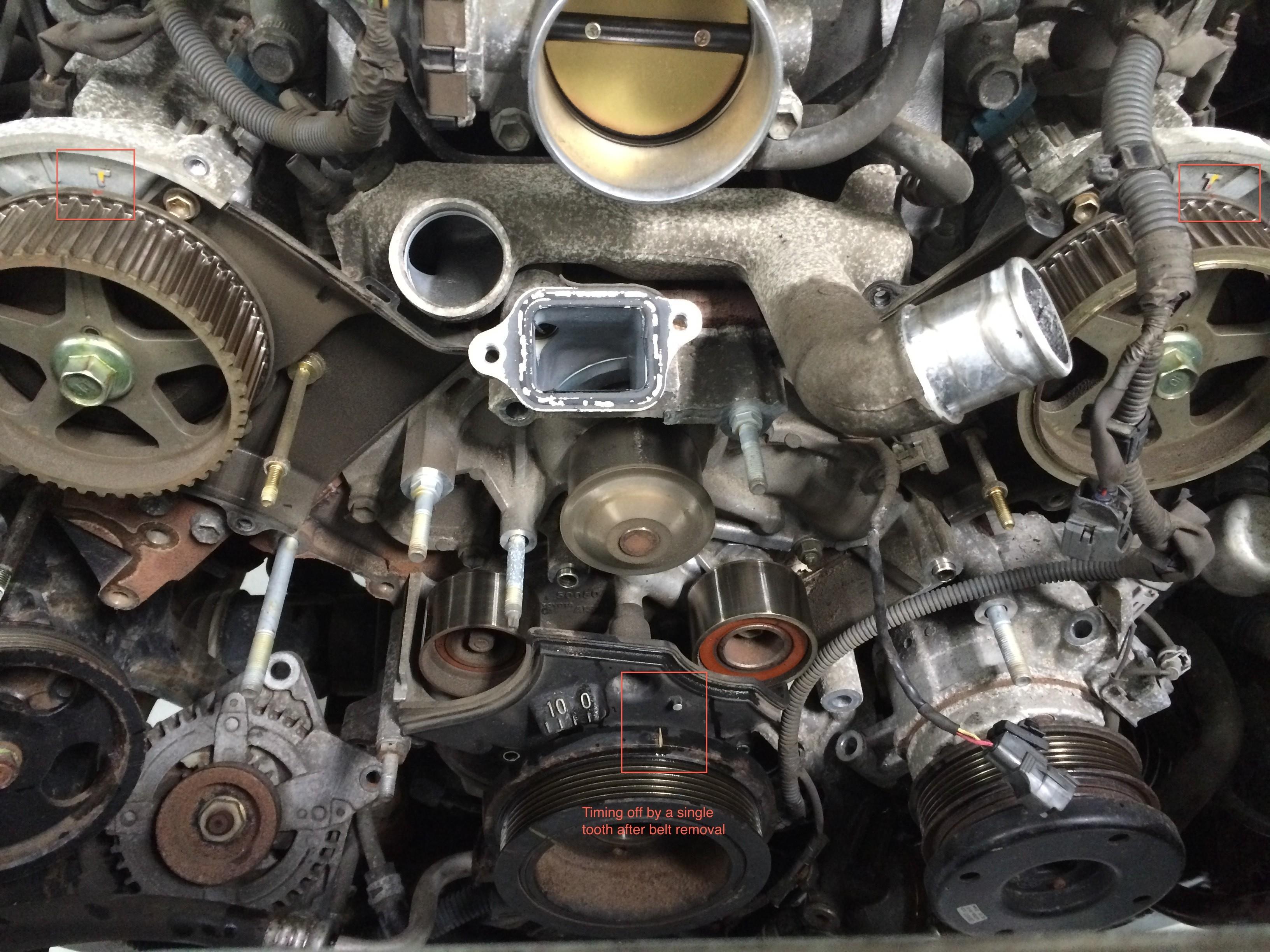 2001 toyota Sequoia Engine Diagram toyota and Lexus 4 7l V8 2uz Fe Timing  Belt Replacement