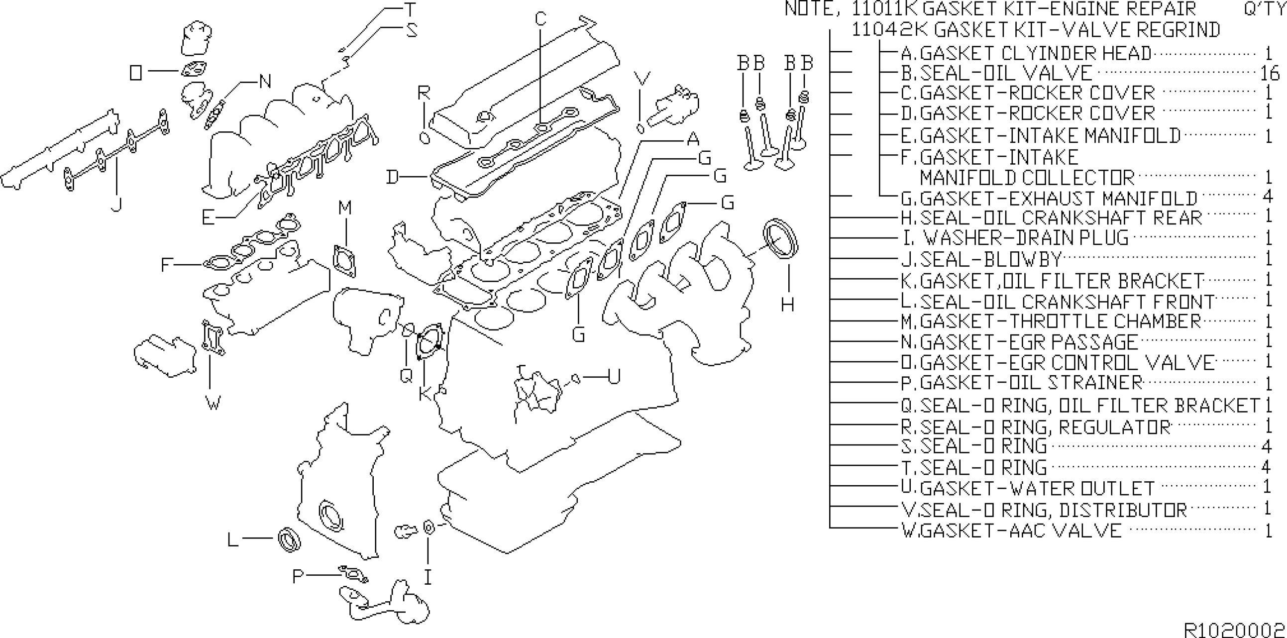 2002 Nissan Altima Engine Diagram Sentra 1997 2005 2000 Of