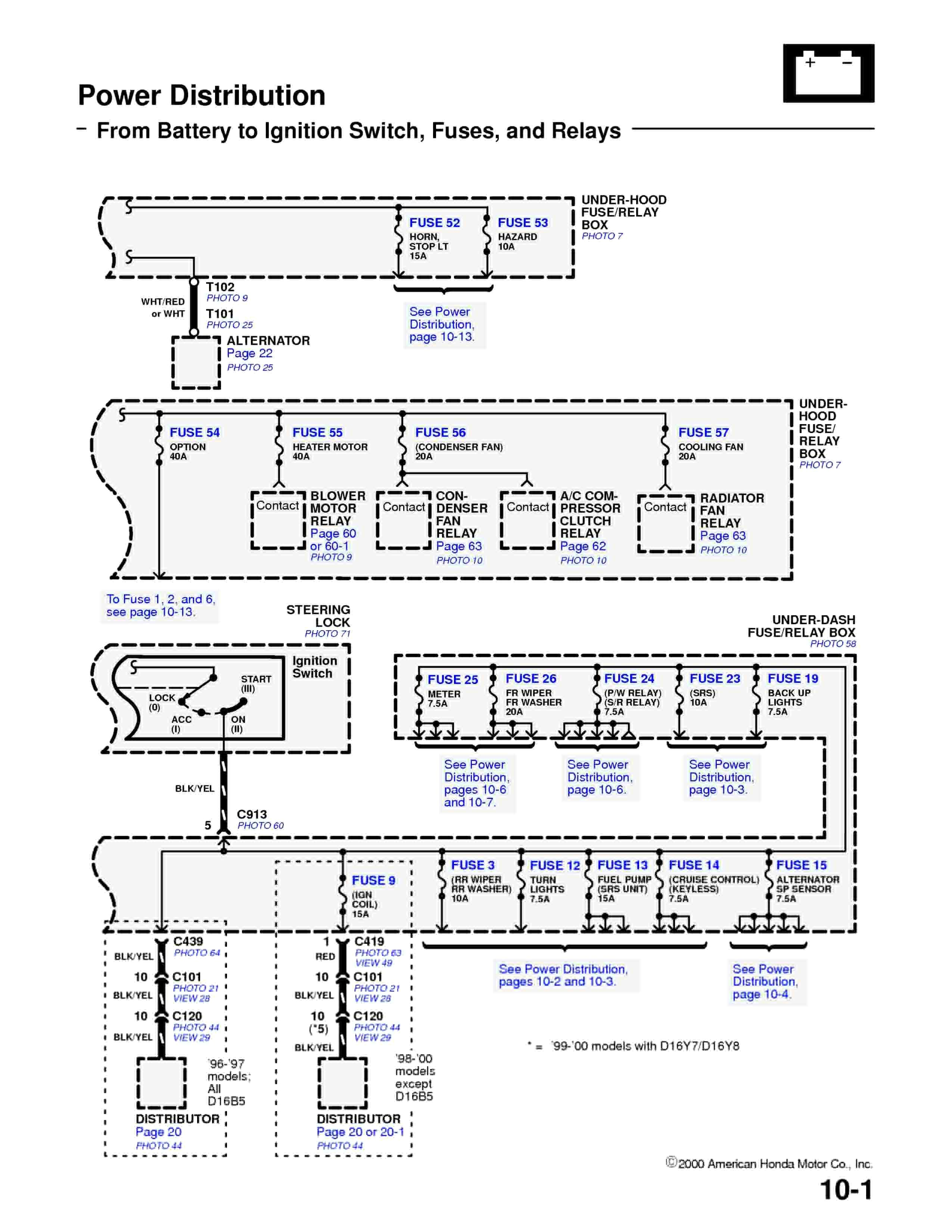 1994 Honda Accord Ac Wiring Diagram Library 97 Engine Civic Best Obd1 Alternator Of