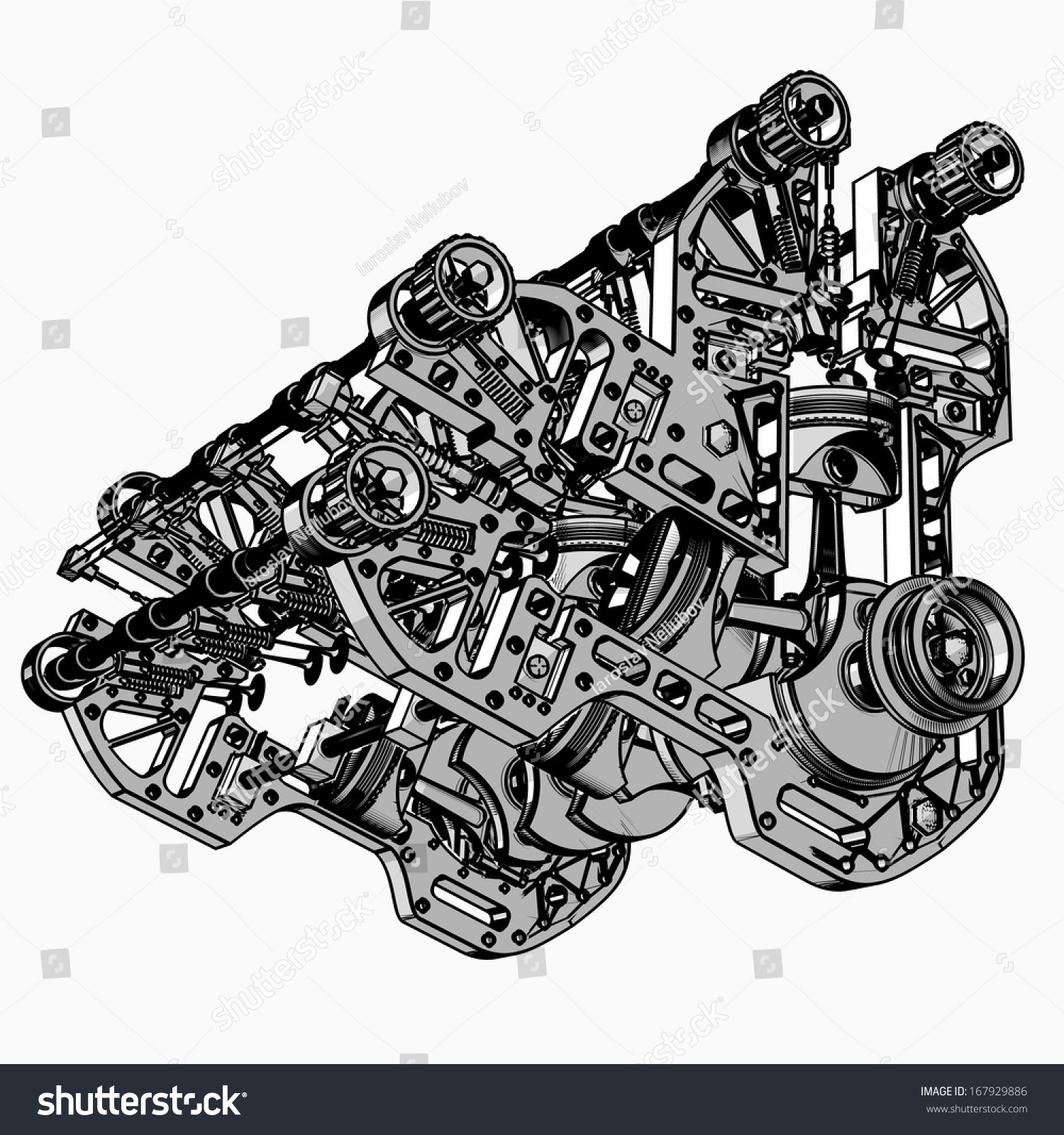 Animated V8 Engine Diagram V 8 Car Engine Black White Drawing Stock Boxer Engine  Animation V8 Engine Animation Diagram