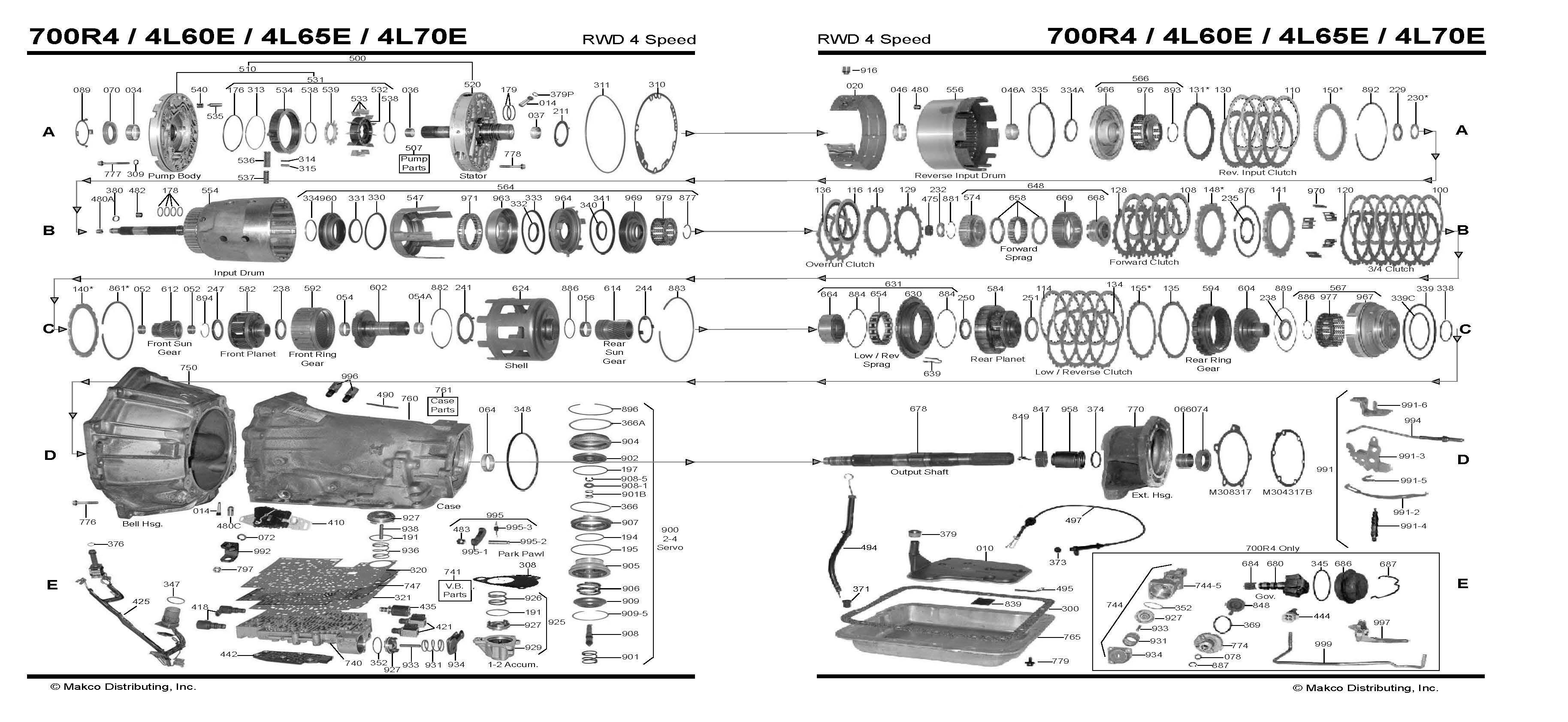 Auto Transmission Diagram Diagram 4l60e Transmission Diagram Auto Trans Chart