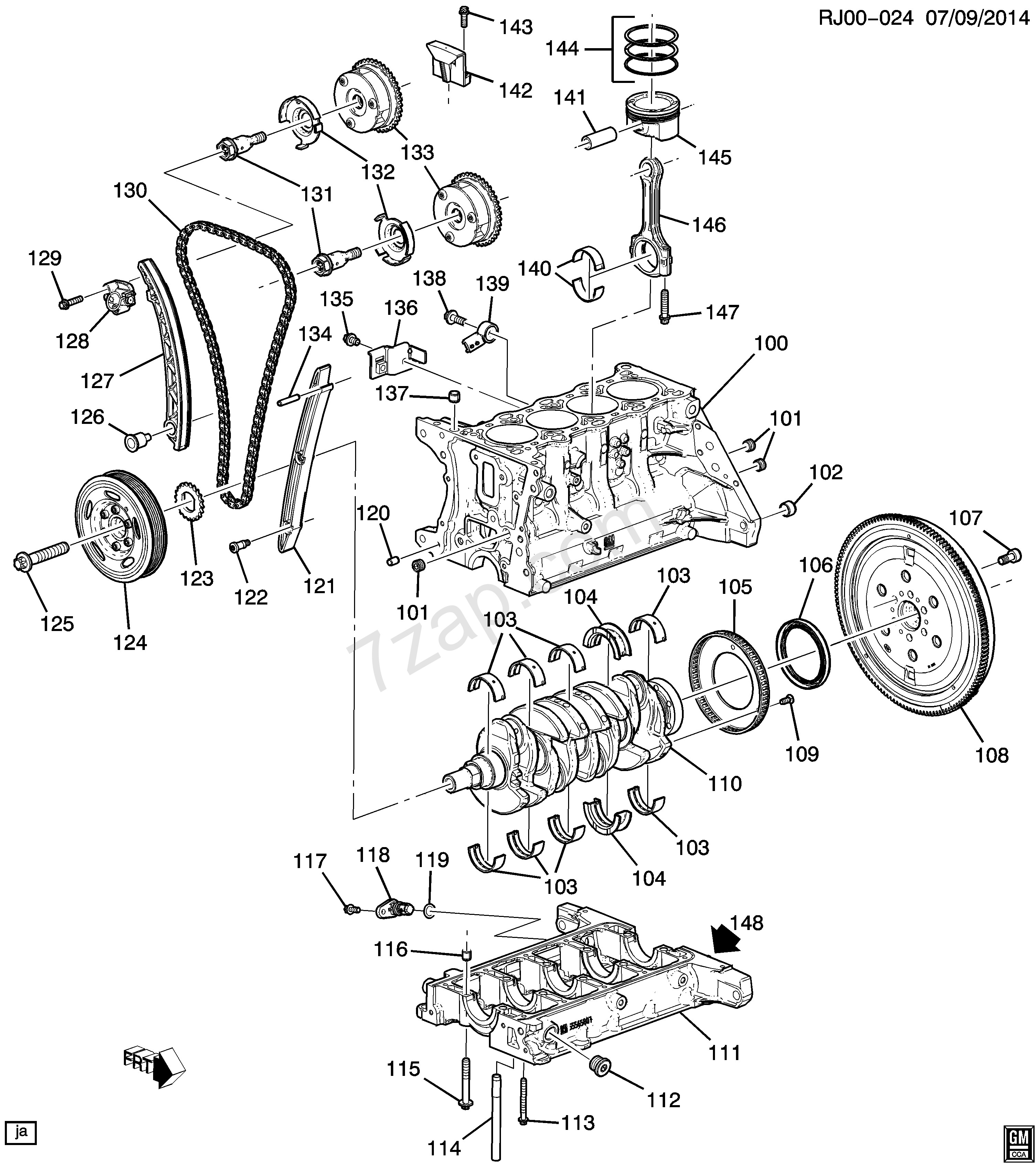 Chevy 3 1 Engine Diagram 2013 2017 Jc69 Engine asm 1 2l L4 Part 1 Cylinder Block & Internal Of Chevy 3 1 Engine Diagram