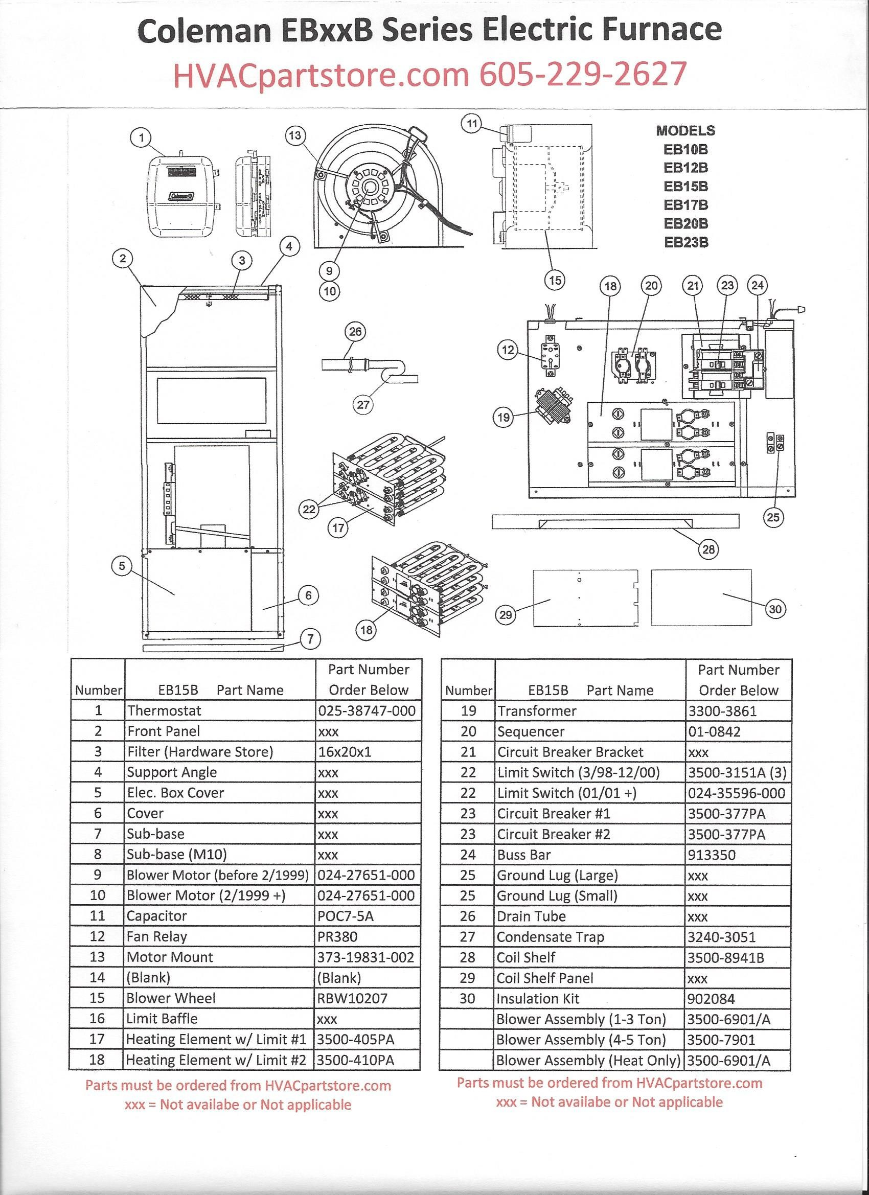 Coleman Electric Furnace Wiring Diagram Circuit Intertherm Electric Furnace Wiring Diagram Parts Wiring