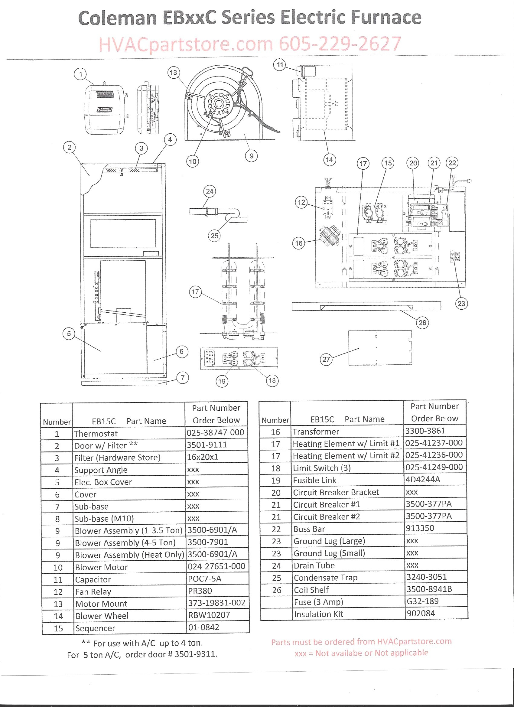 Coleman Electric Furnace Wiring Diagram My Wiring DIagram