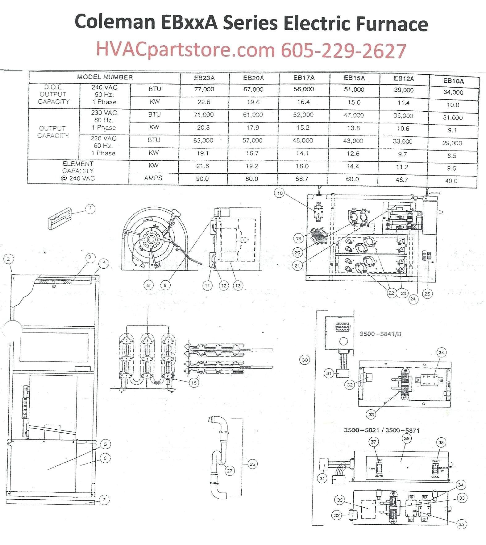 coleman electric furnace wiring diagram york electric