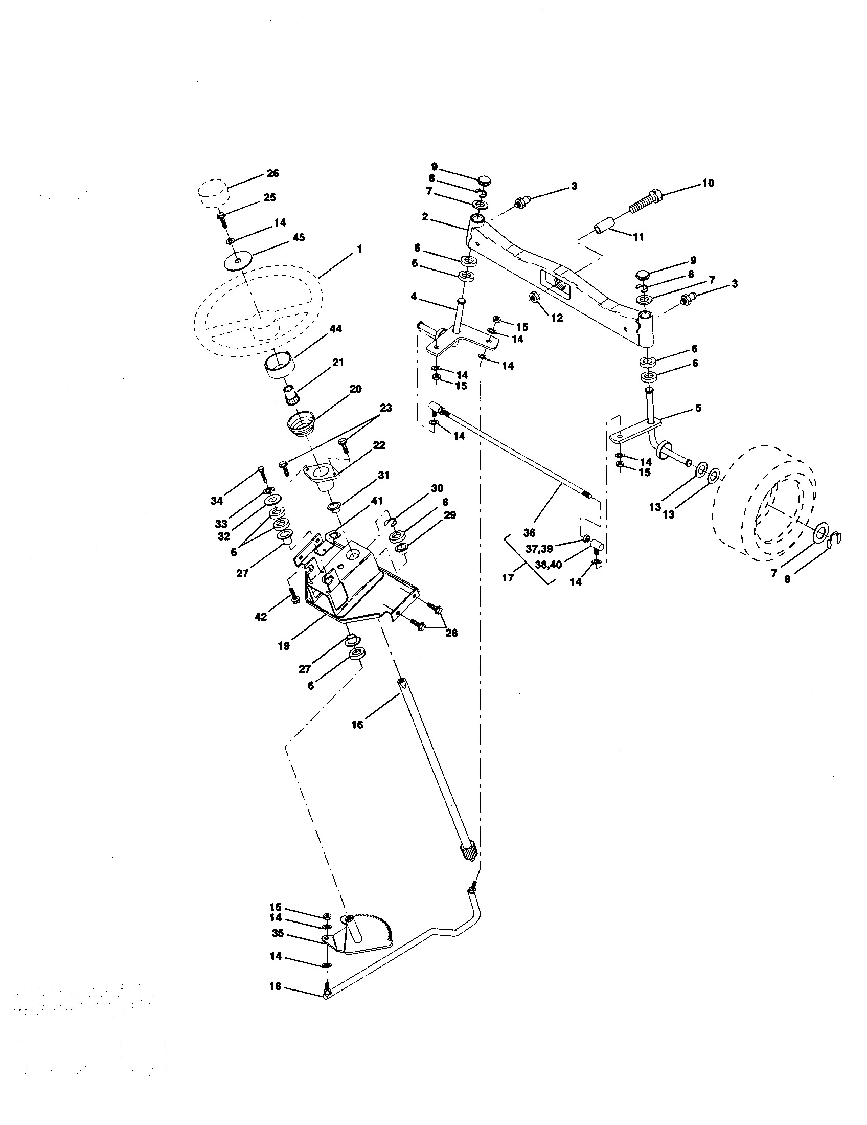 Craftsman Gt 5000 Parts Diagram Steering assembly Diagram & Parts List for Model Craftsman Of Craftsman Gt 5000 Parts Diagram