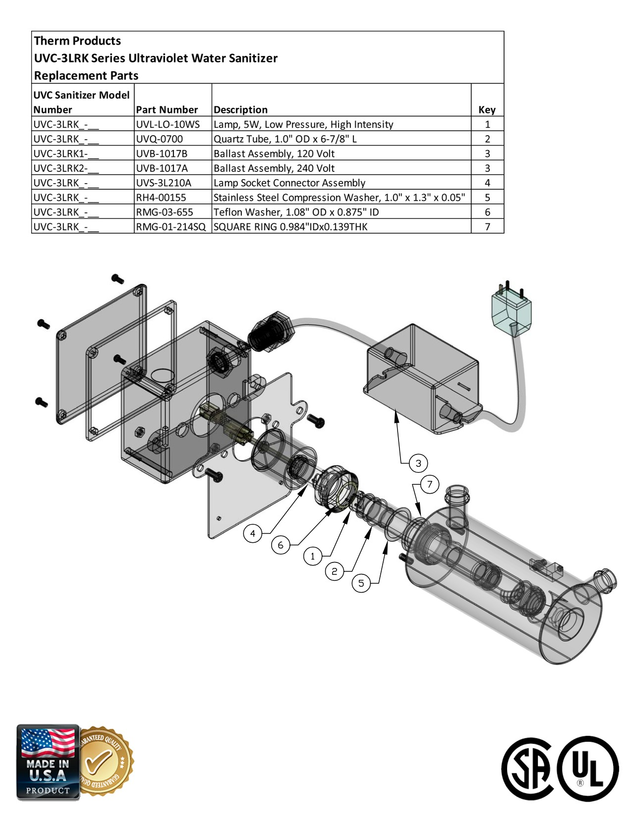 dimension one spa parts diagram