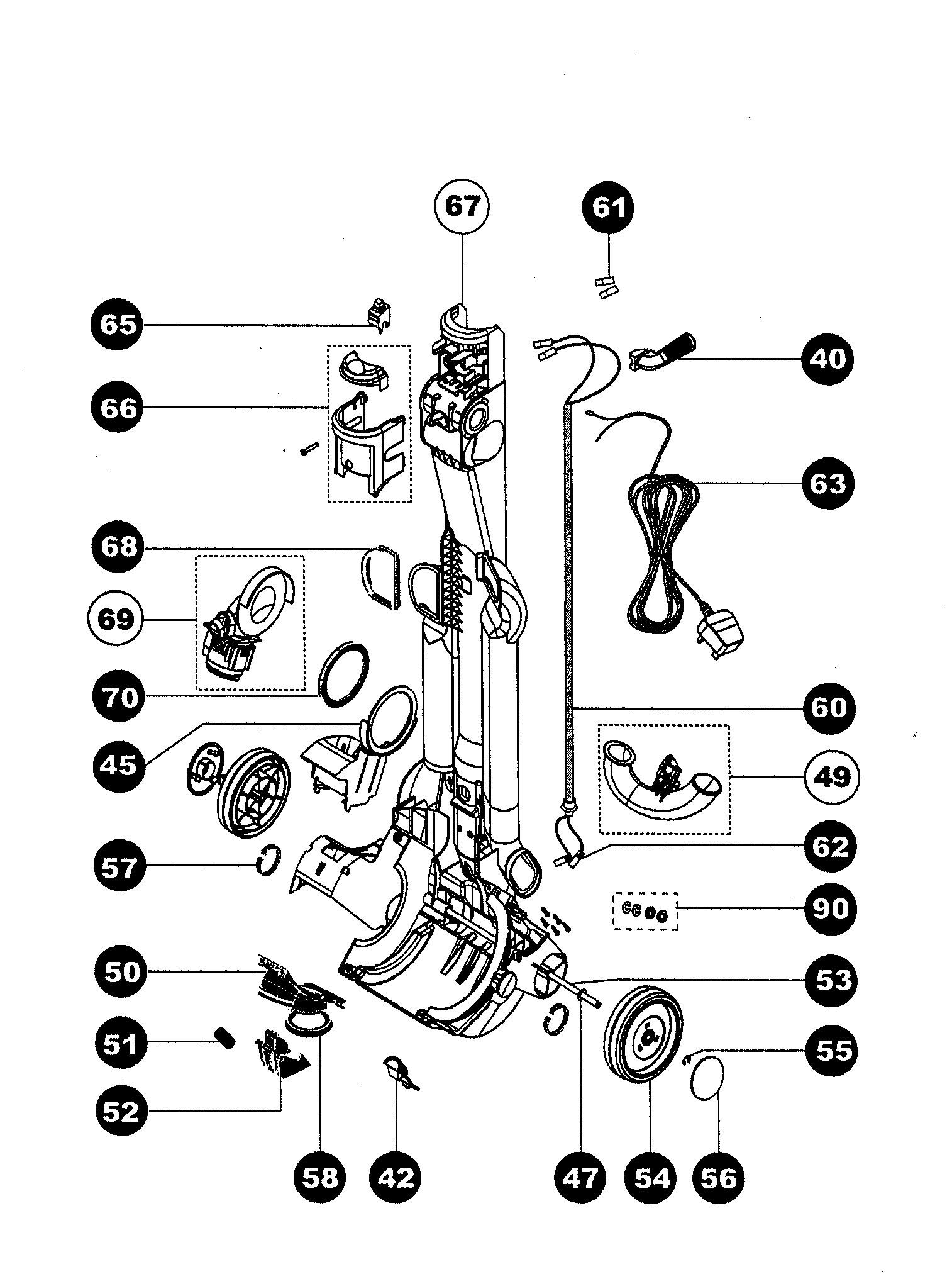Dyson Animal Parts Diagram Dyson Dc07 Animal Replacement Parts Of Dyson Animal Parts Diagram
