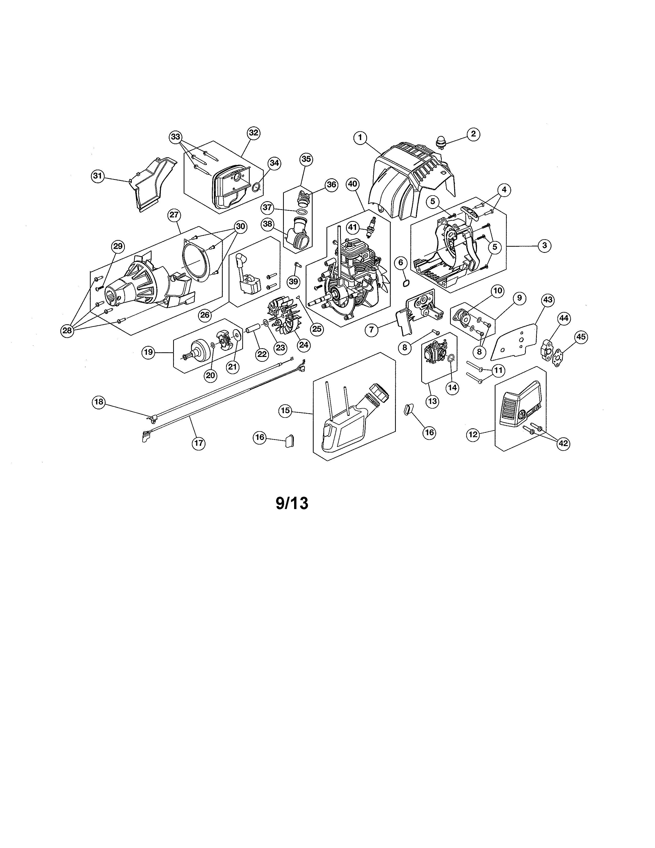 Four Stroke Engine Diagram My Wiring 4 Craftsman 30cc Cycle Straight Shaft Weedwackergas Trimmer P 25503300