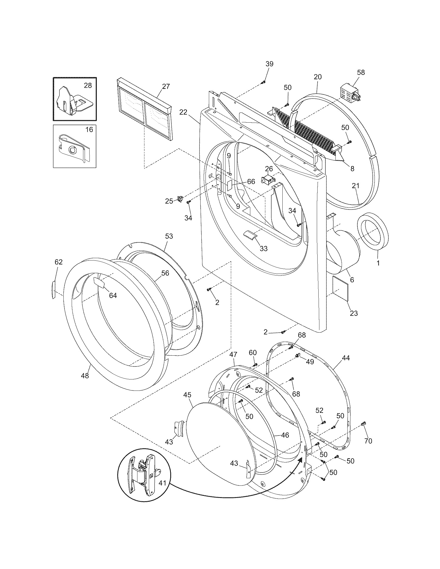 frigidaire dryer parts diagram samsung model dv52j8700ep