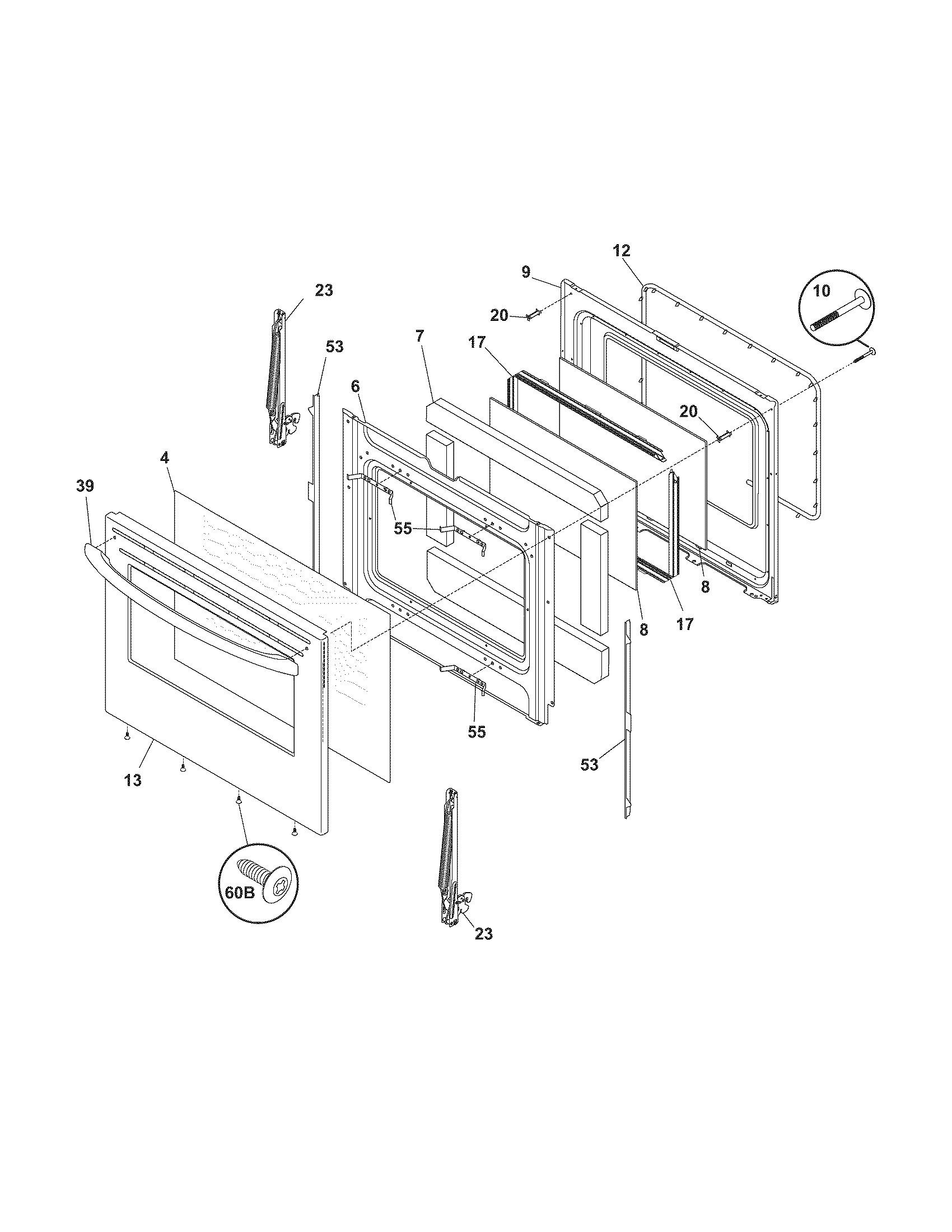 frigidaire electric range parts diagram kenmore gas stove