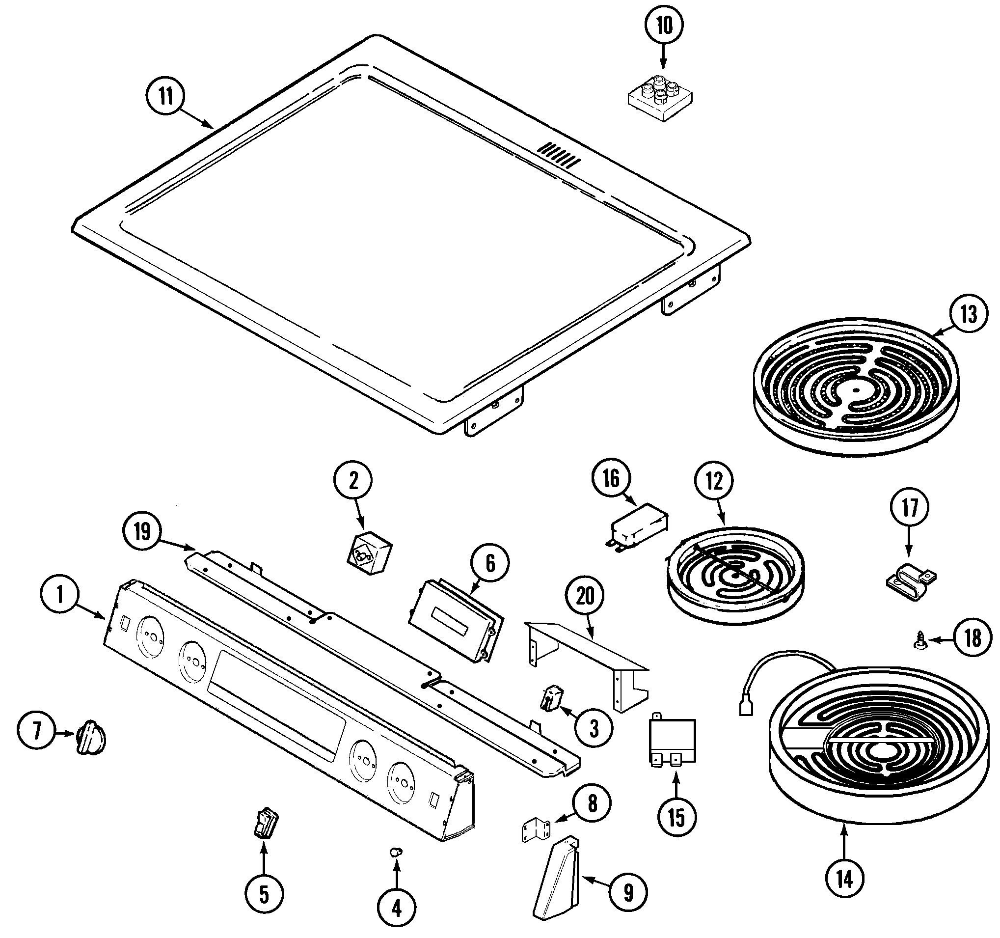 Frigidaire Electric Range Parts Diagram Maytag Model Mes5770aac ...