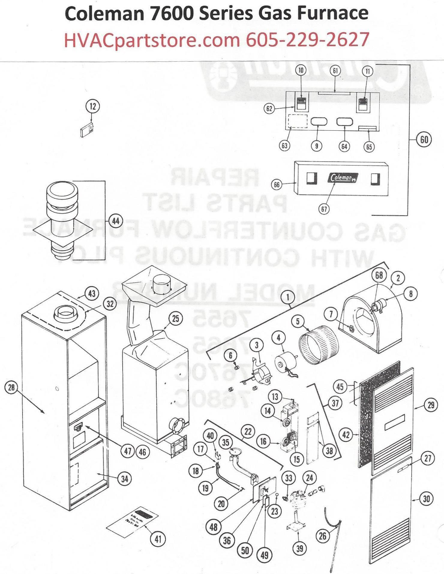 Gas Valve Wiring Diagram 7655 856 Coleman Furnace Parts Post Indicator Hvacpartstore Of