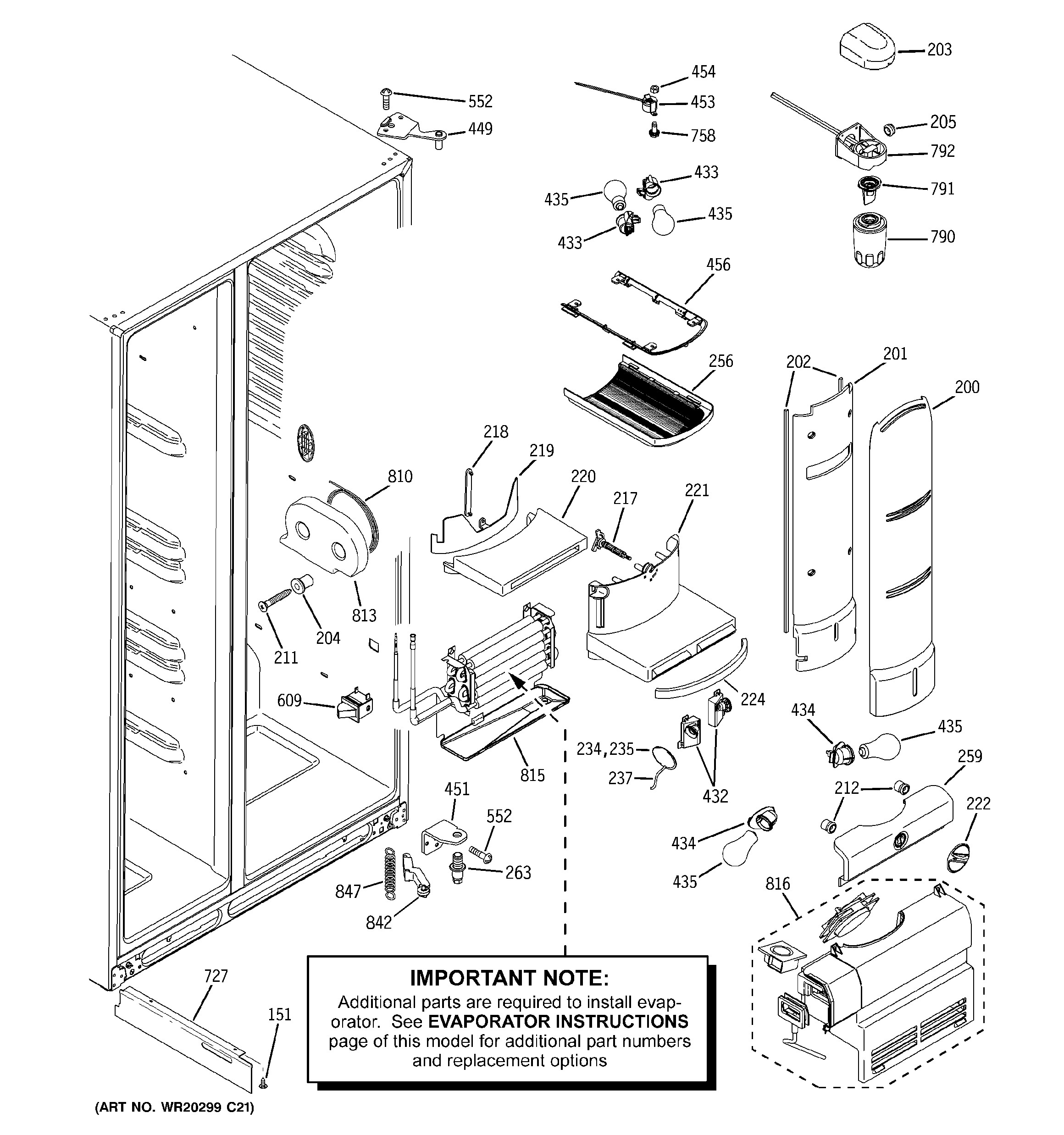 Ge Refrigerator Parts Diagram Ge Model Ghe25rgxafss Side by Side Refrigerator Genuine Parts Of Ge Refrigerator Parts Diagram