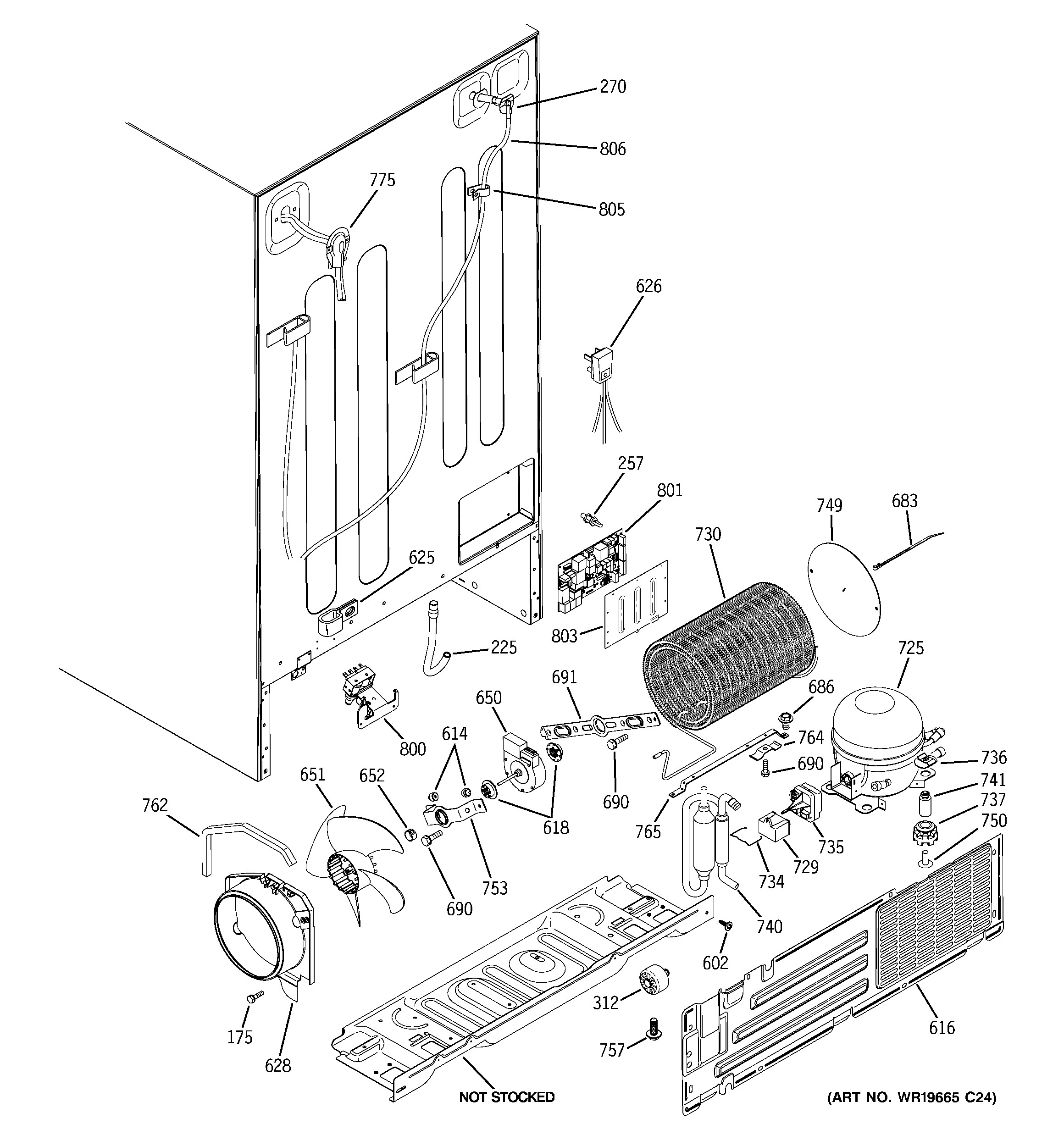 ge refrigerator parts diagram ge model gss25wstmss side by