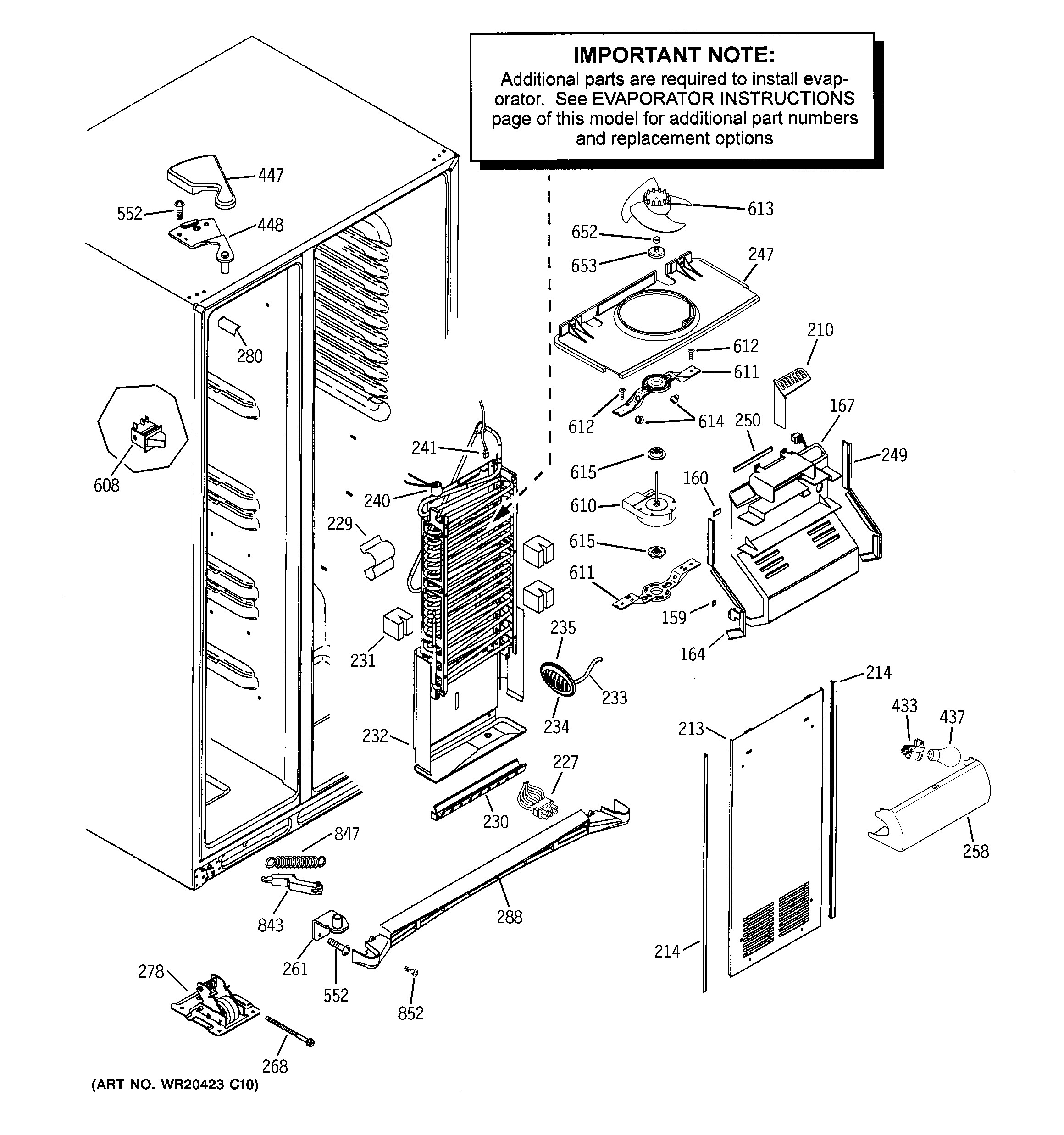 Ge Refrigerator Parts Diagram Ge Model Gss25wstmss Side by Side Refrigerator Genuine Parts Of Ge Refrigerator Parts Diagram