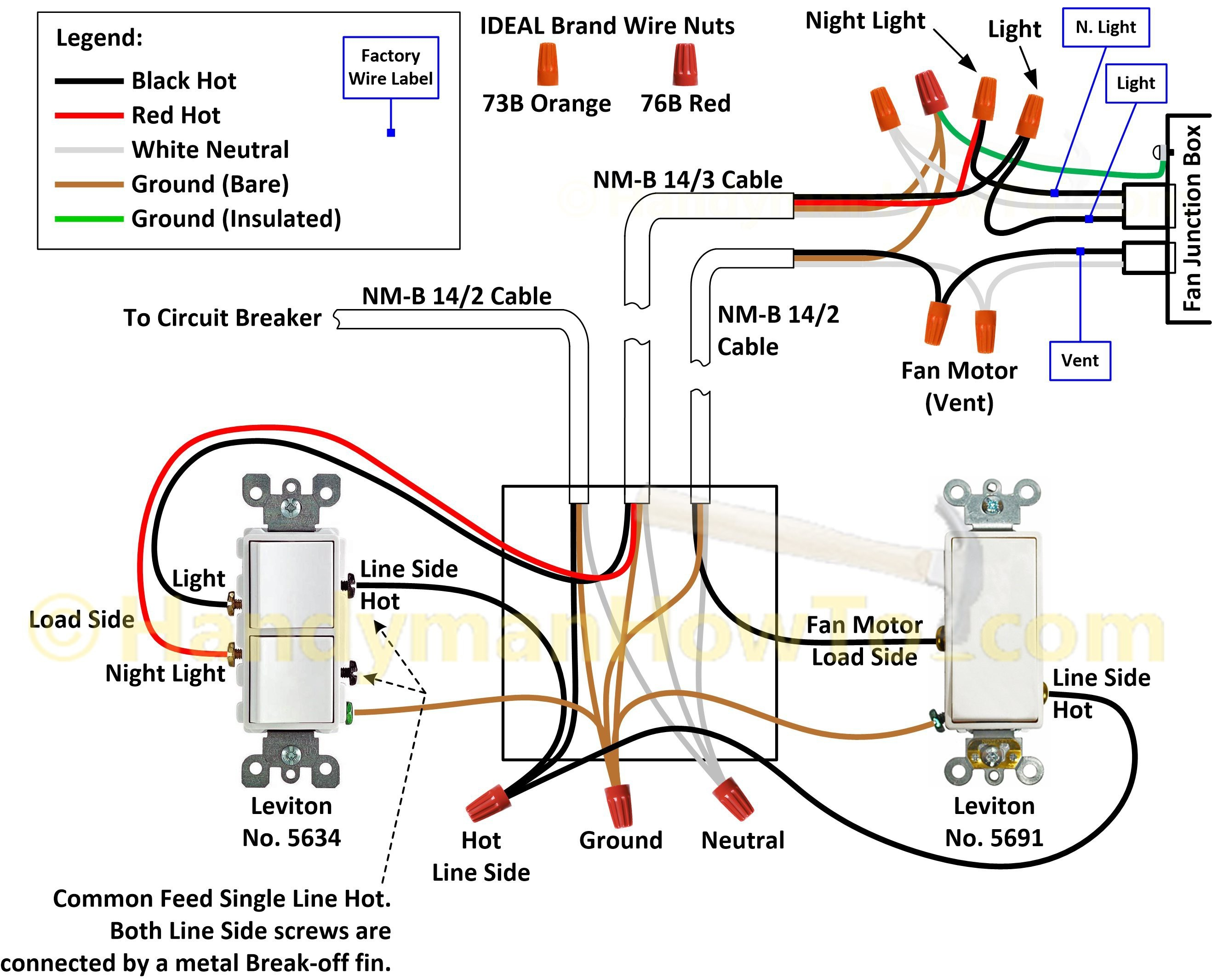 Gfci Wiring Diagram Without Ground : Gfci wiring diagram feed through method