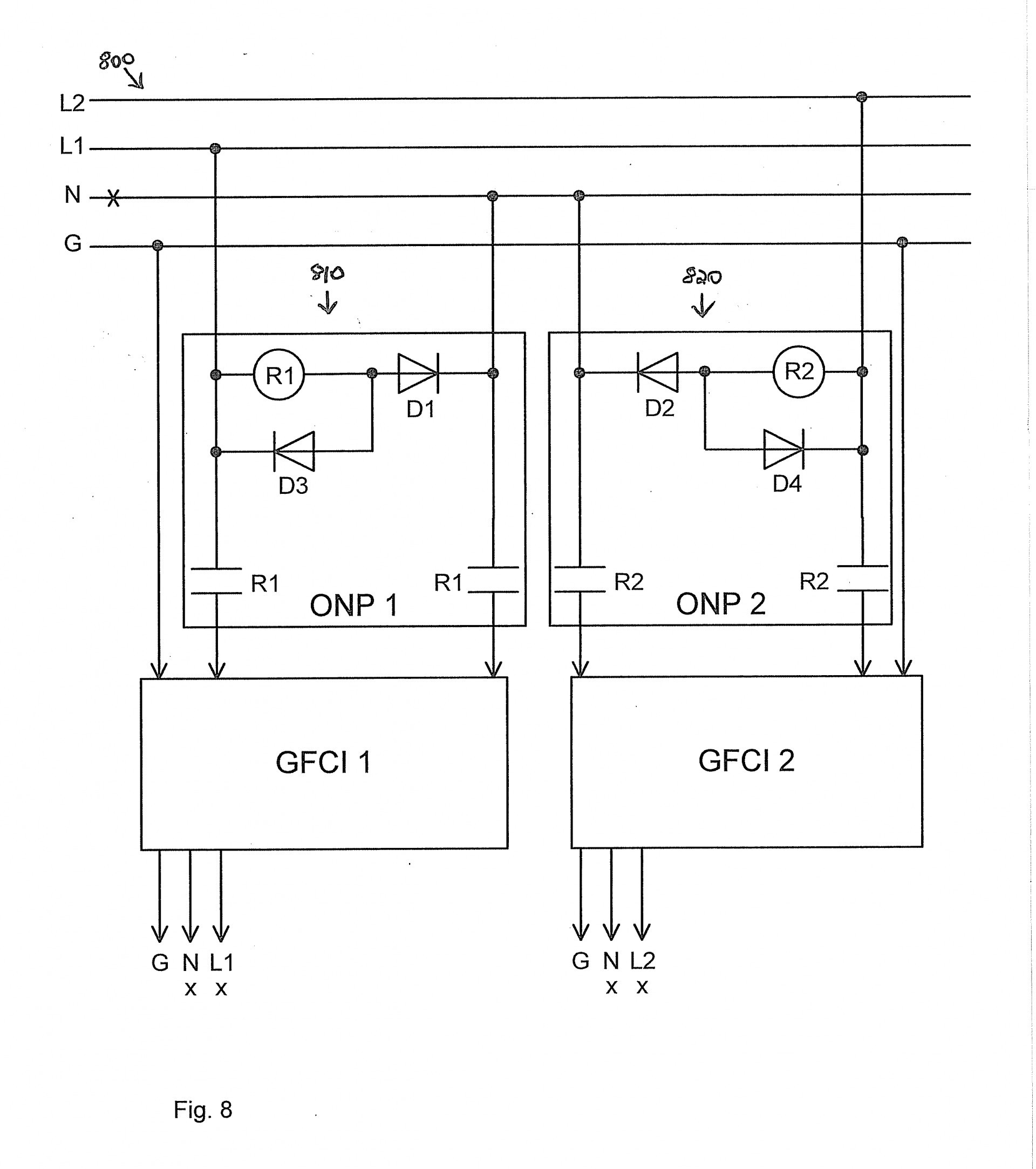 Gfci Wiring With Unprotected Switch And Light Diy Crafts Diagram For Gfi Feed Through Method Electrical Leviton