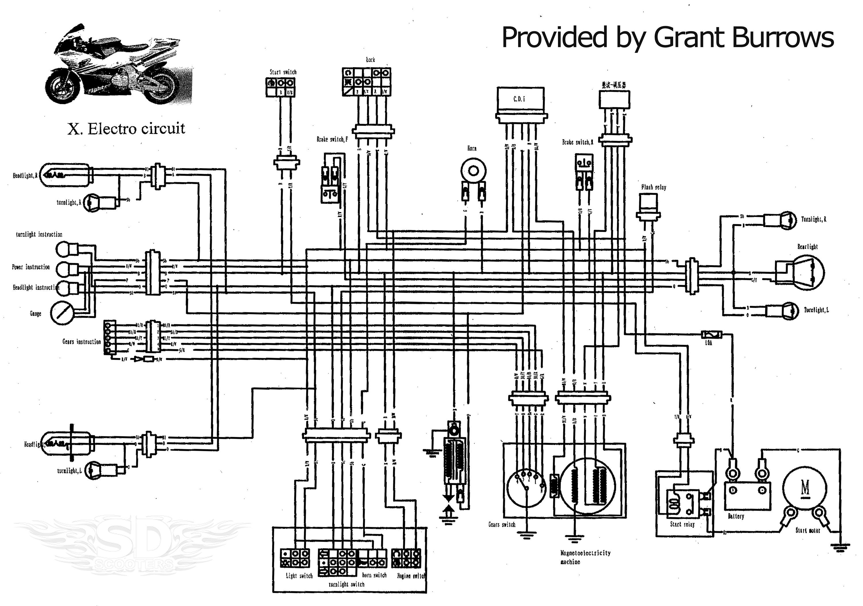 pocket bike engine diagram
