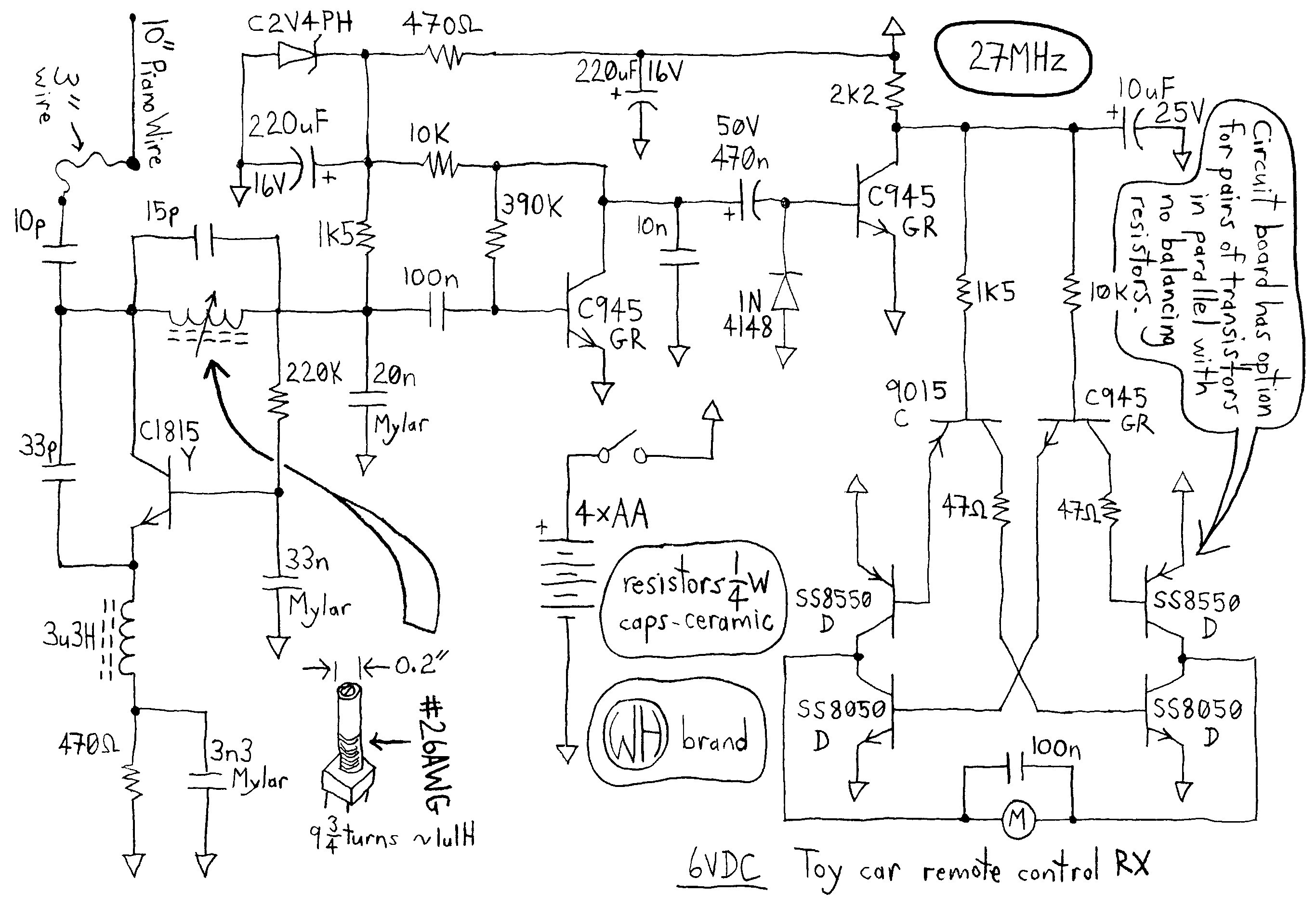 Toy Car Remote Control Circuit Diagram Remotecontrolcircuit Drawing At