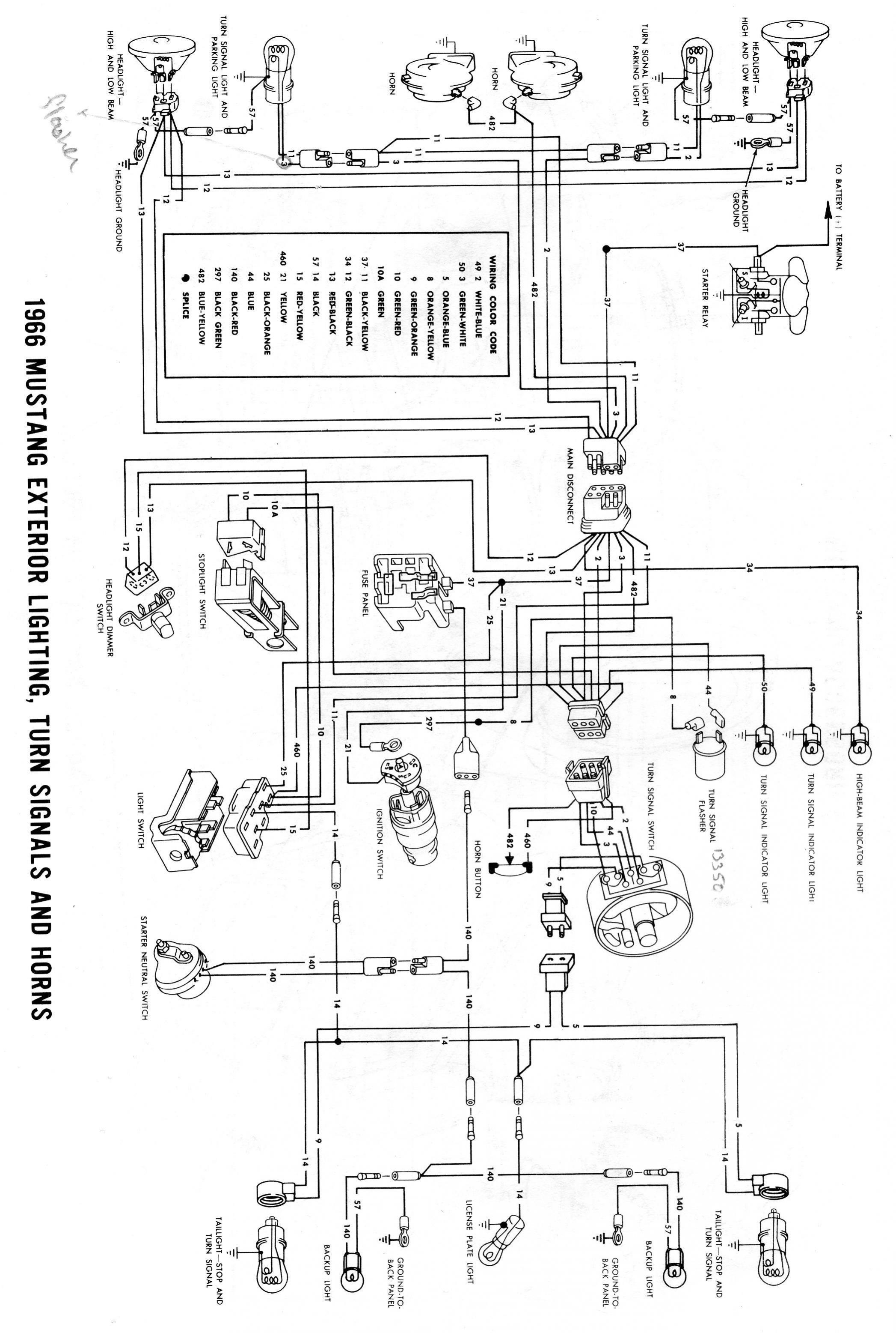 1966 Mustang Wiring Diagram Wiring Diagrams for Turn Signal Save 1966 Mustang Electrical Wiring Of 1966 Mustang Wiring Diagram