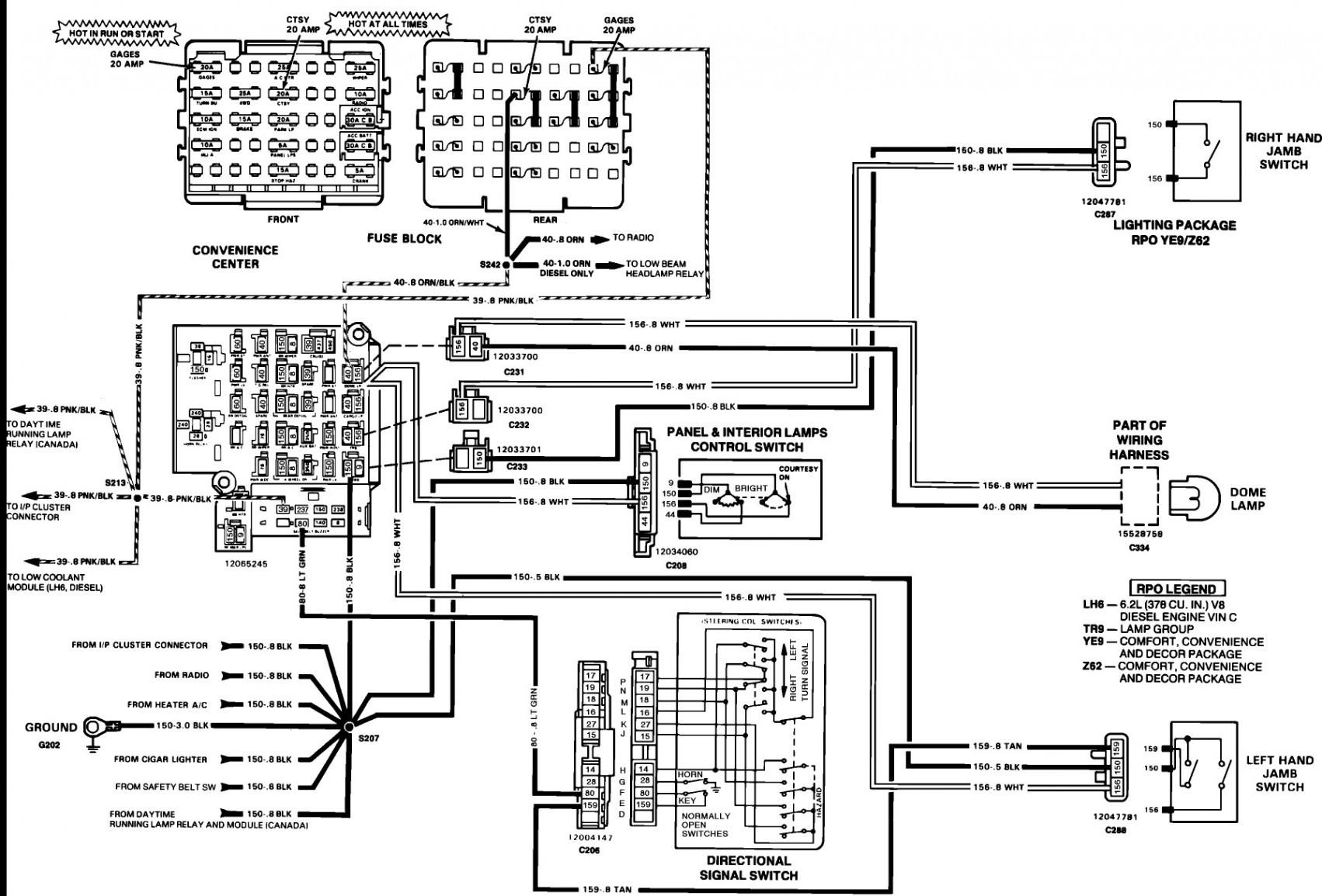 1984 chevy truck fuse box diagram my wiring diagram