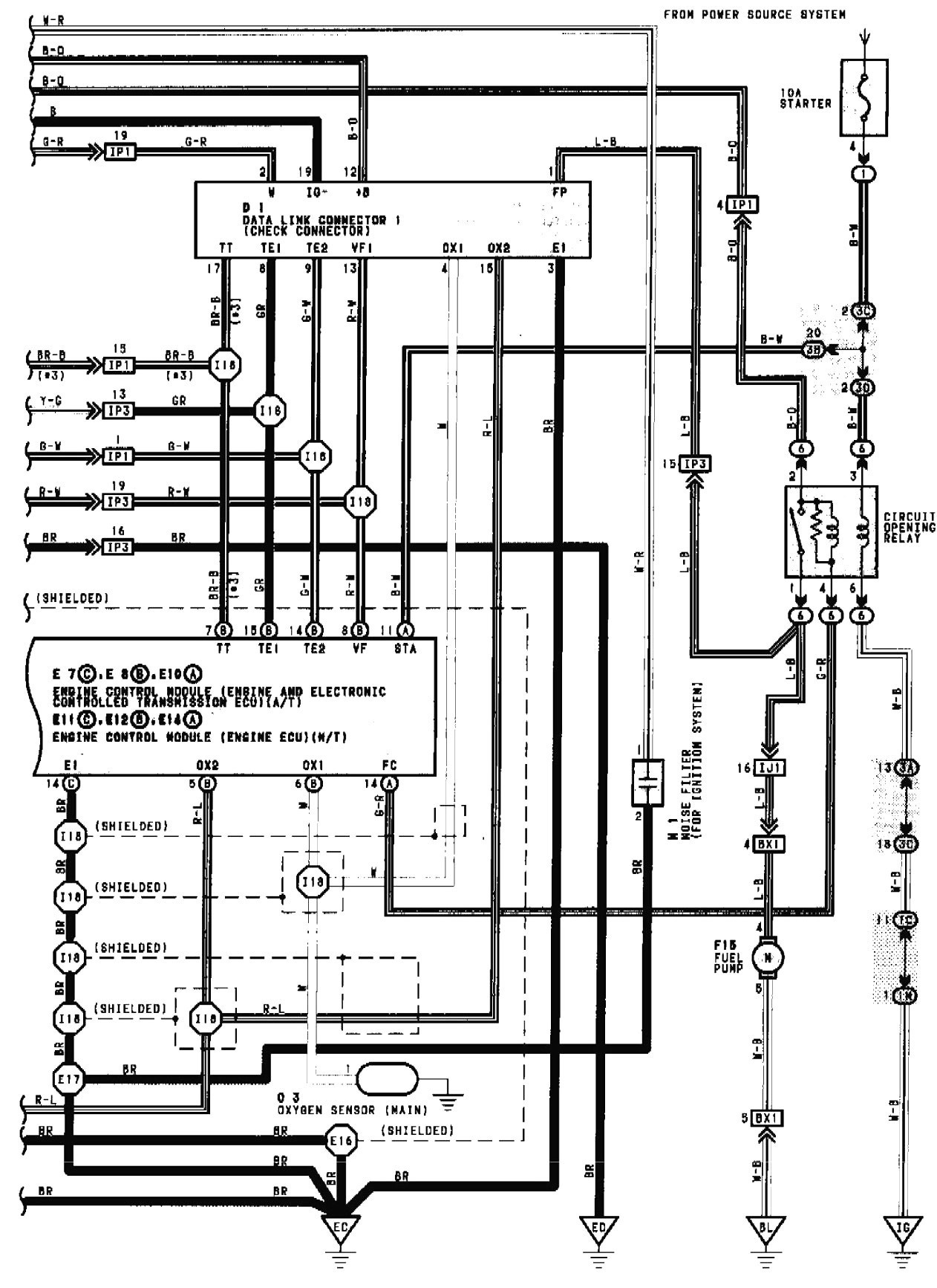 1990 Toyota Camry Wiring Diagram 1989 Van Fuse Box Electrical Moreover 2000 Corolla Of