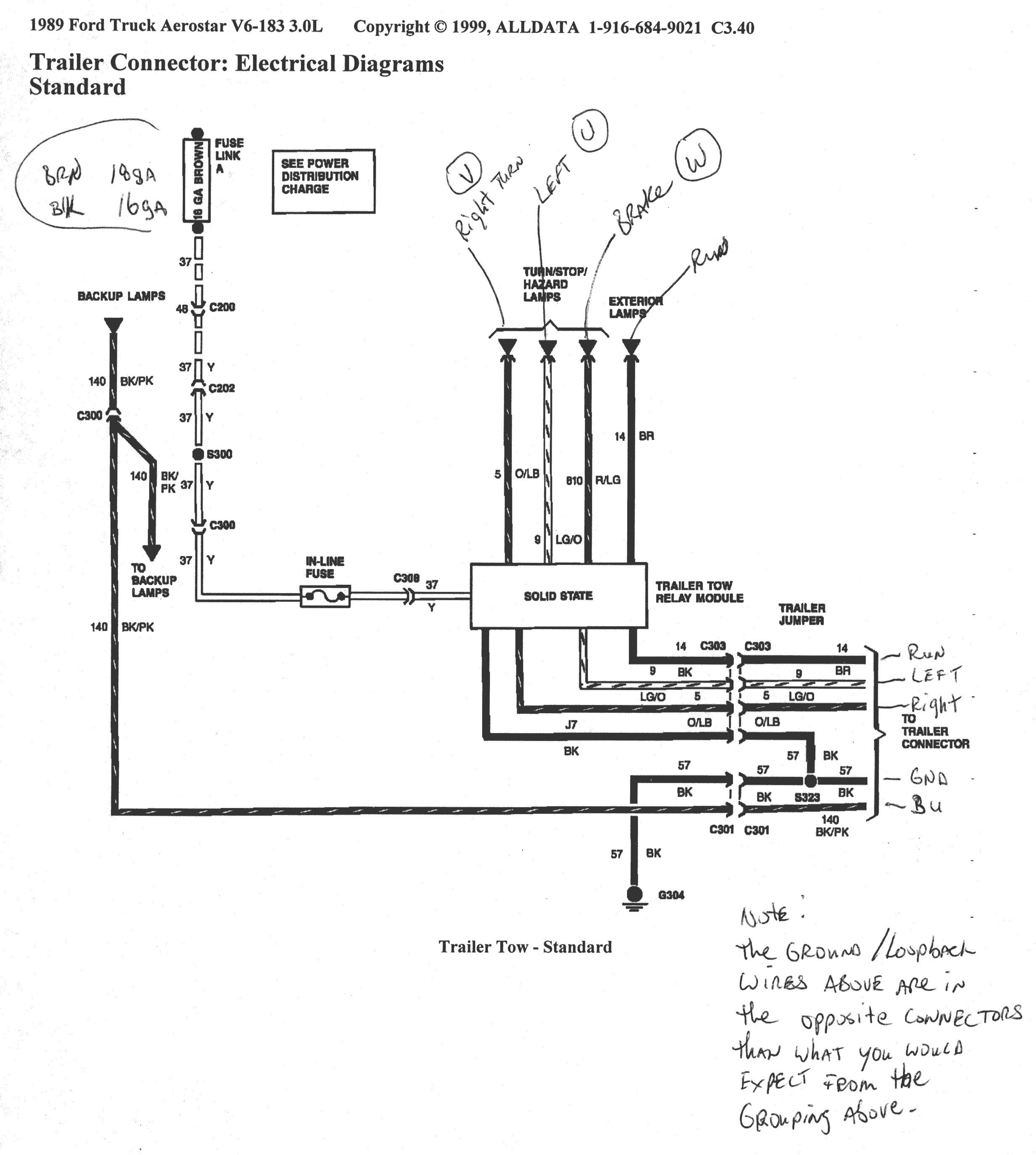 2001 F250 Trailer Wiring Diagram - Schematics Online  F Trailer Wiring Diagram on