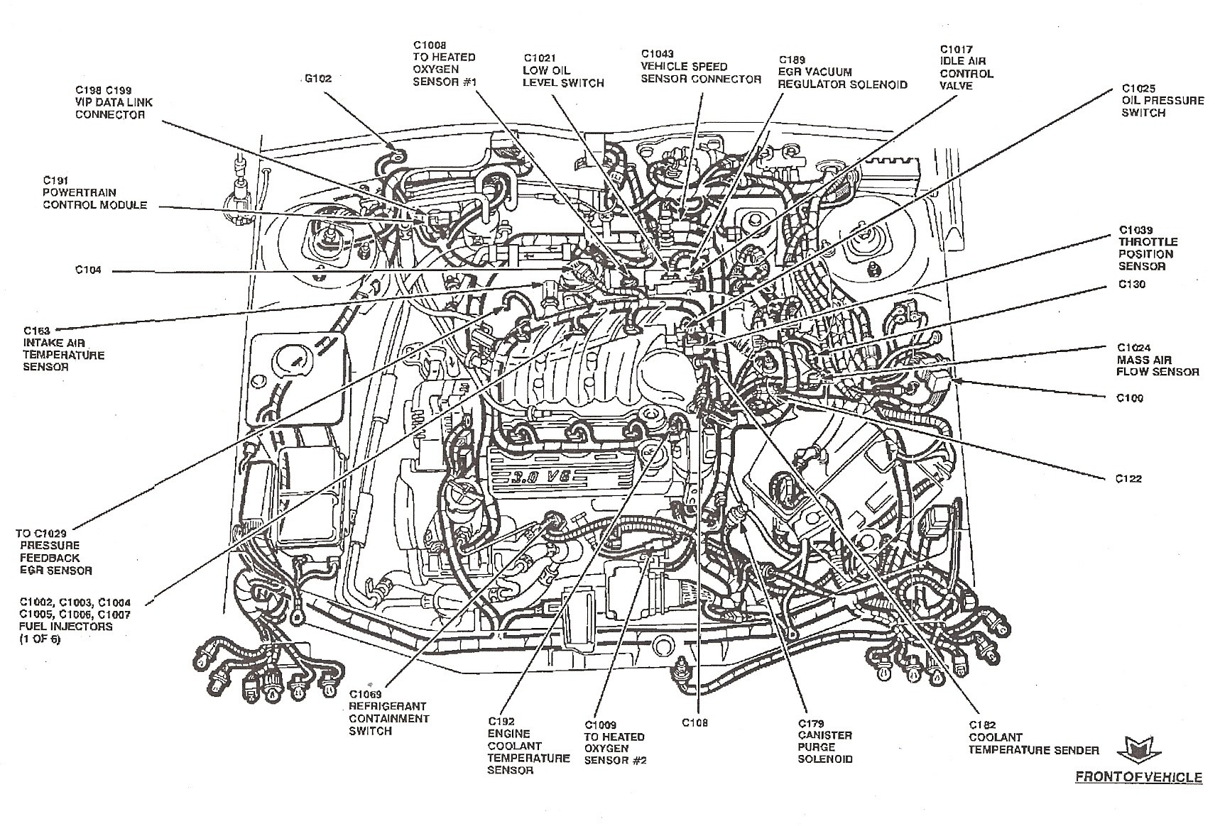 2000 ford explorer engine diagram ford 4 0 ohv engine