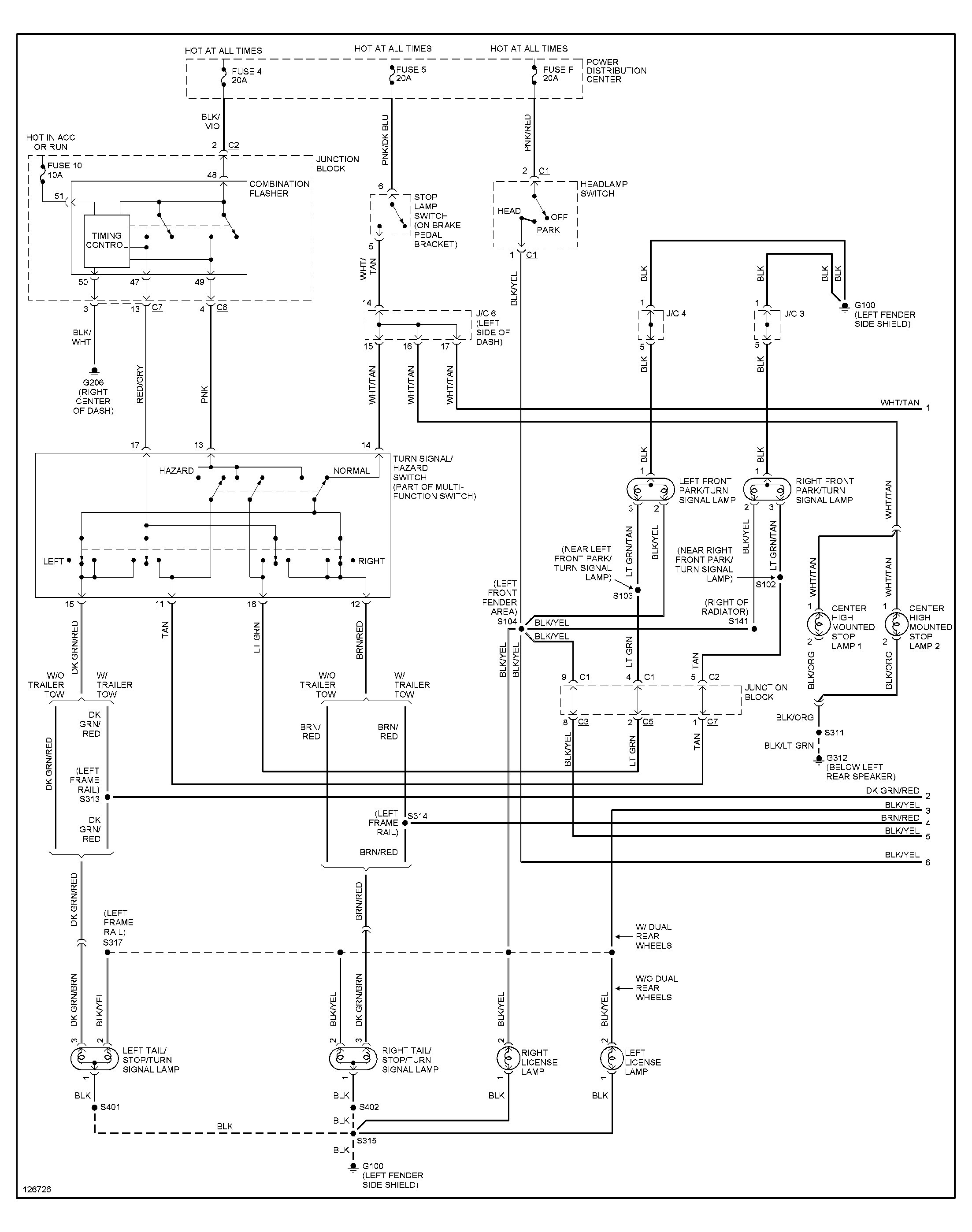2003 Dodge Ram Wiring Diagram 1998 Dodge Ram 1500 Light Wiring Diagrams Data Wiring Diagrams • Of 2003 Dodge Ram Wiring Diagram