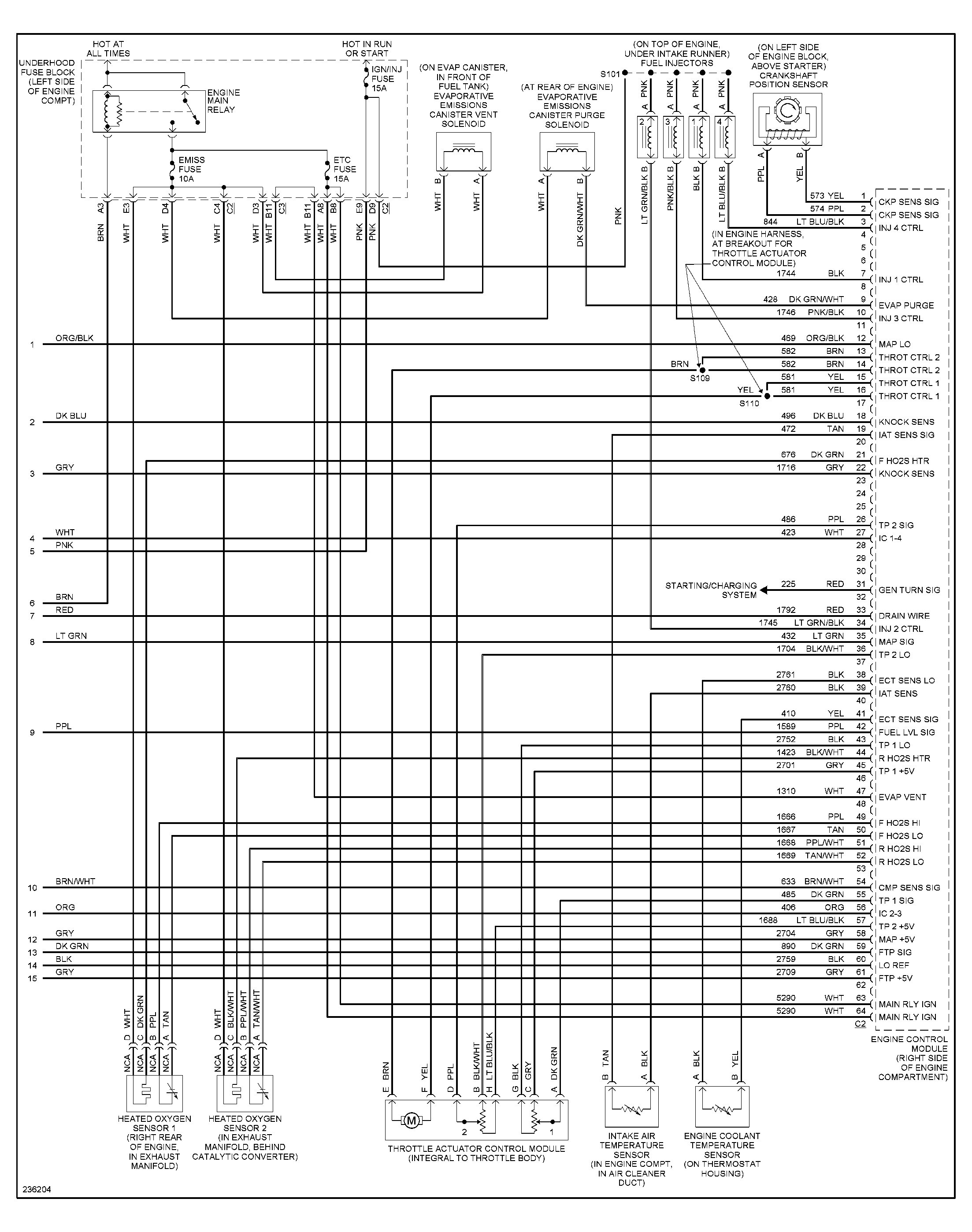 2004 Saturn Vue Wiring Schematic - Wiring Diagram