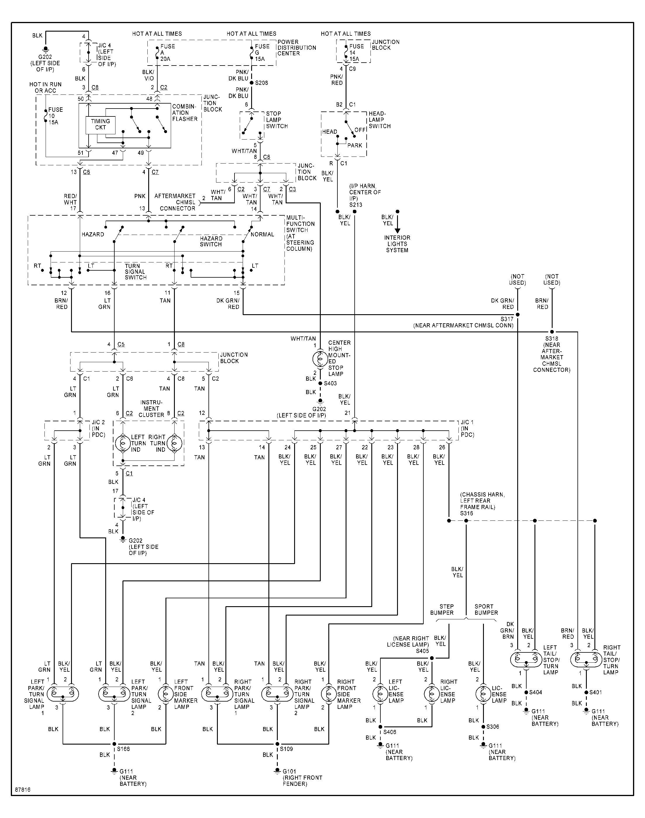 2004 chevy silverado tail light wiring diagram