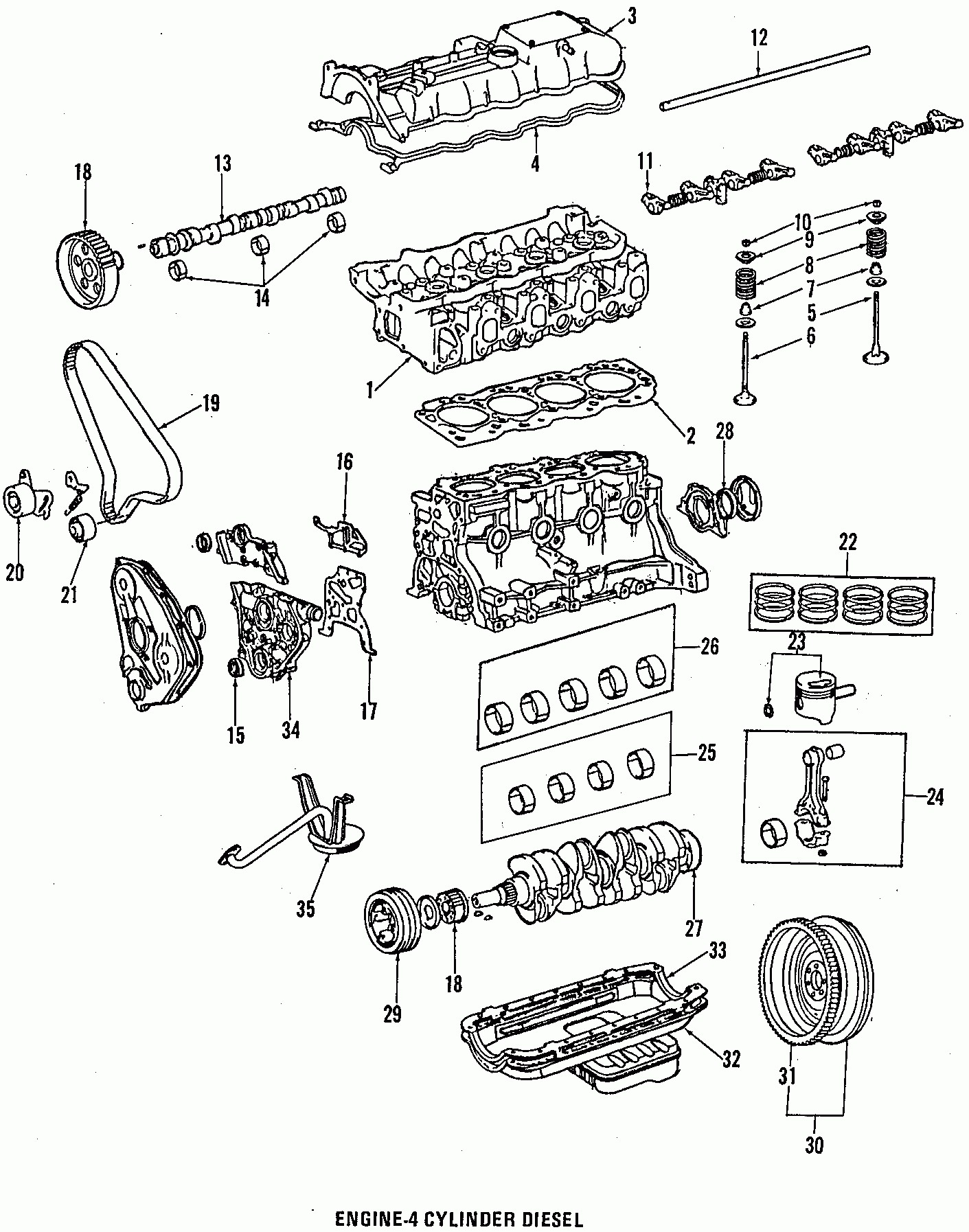 2004 toyota highlander parts diagram