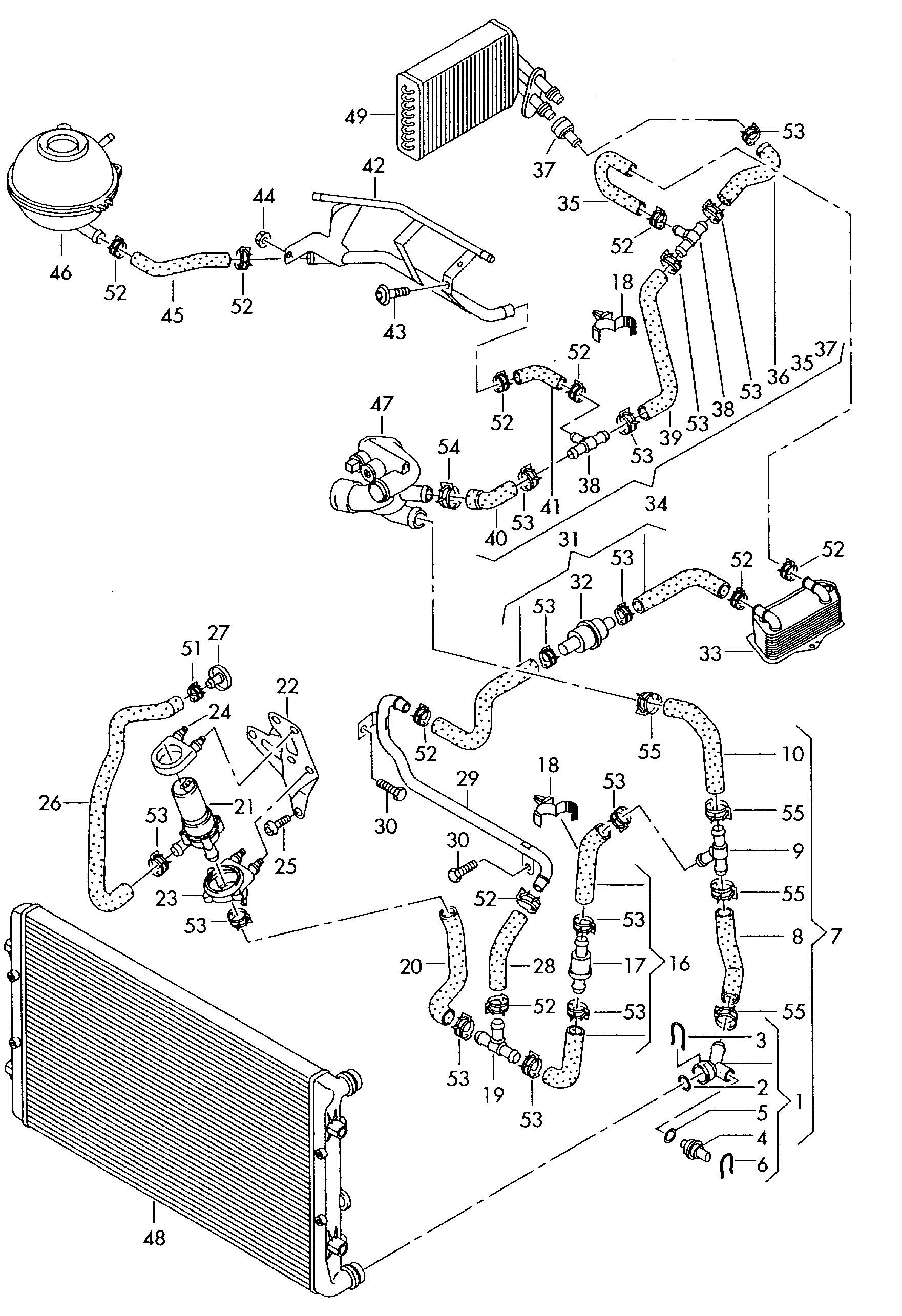 2003 Audi All Road Engine Diagram Wiring Library Coolant Pipe Also 1977 Fj40 Likewise 1990 Toyota Pickup 2000 A6 Cooling System Diy Diagrams U2022 Rh Dancesalsa Co 2004