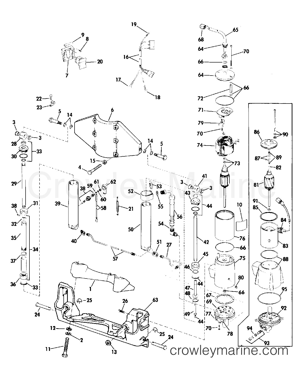40 Hp Evinrude Parts Diagram Power Tilt and Trim 50 Hp 1975 Rigging Parts Accessories Of 40 Hp Evinrude Parts Diagram
