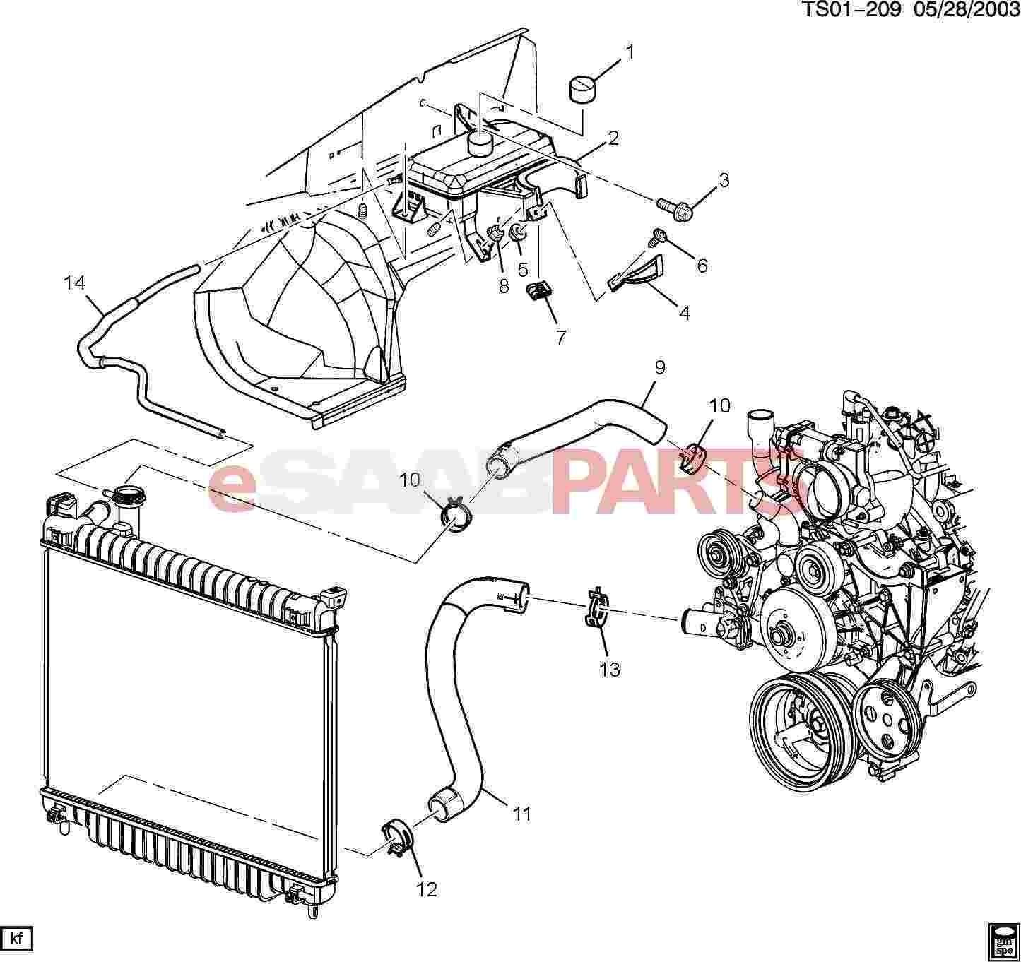 7 3 Engine Parts Diagram Esaabparts Saab 9 7x Engine Parts Heater Hoses Radiator Of 7 3 Engine Parts Diagram