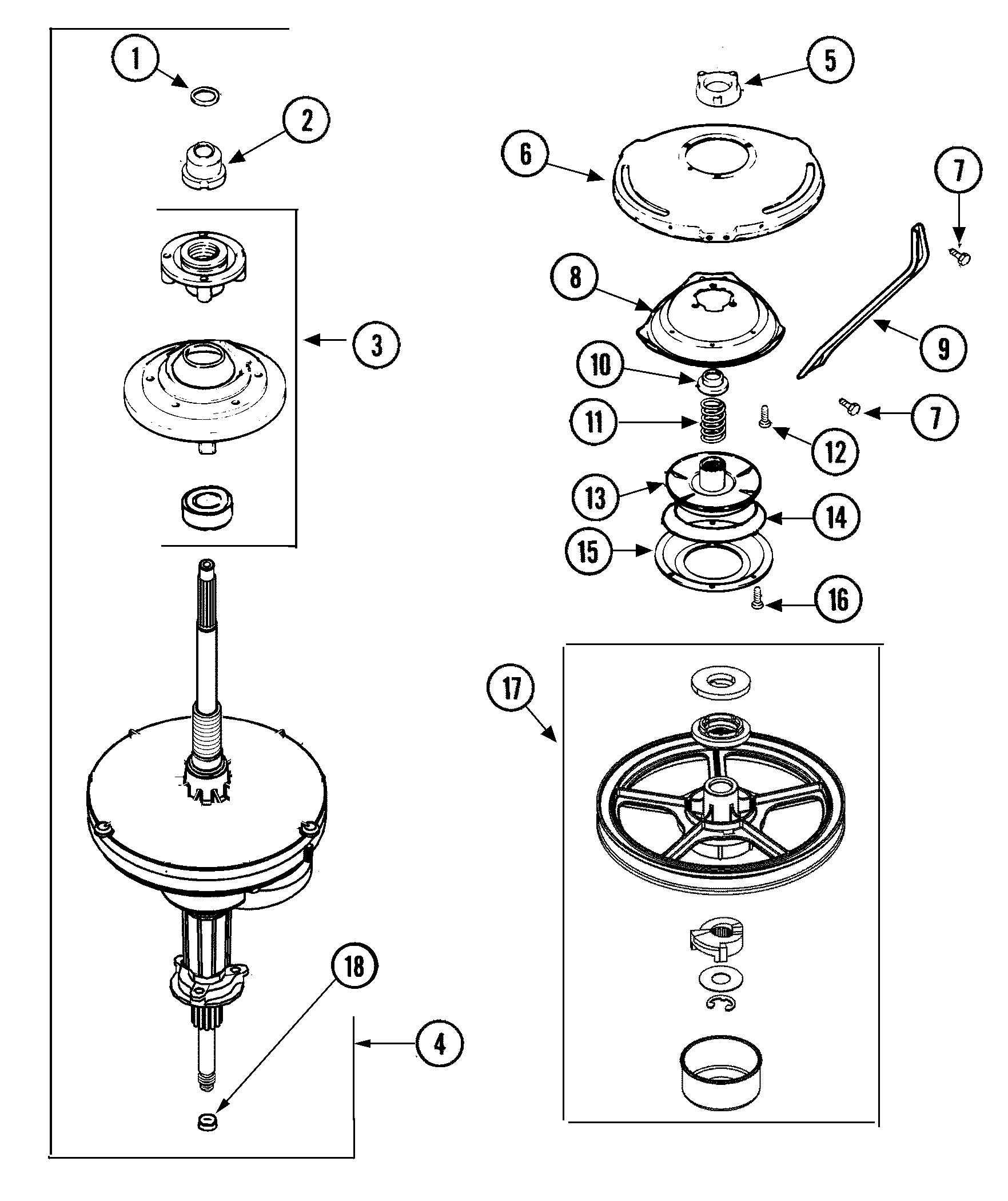 admiral washing machine parts diagram maytag model