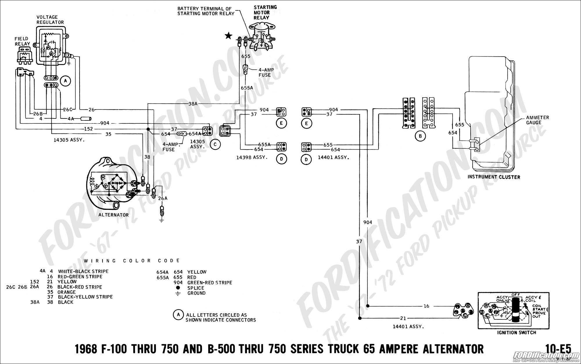 alternator wiring diagram internal regulator