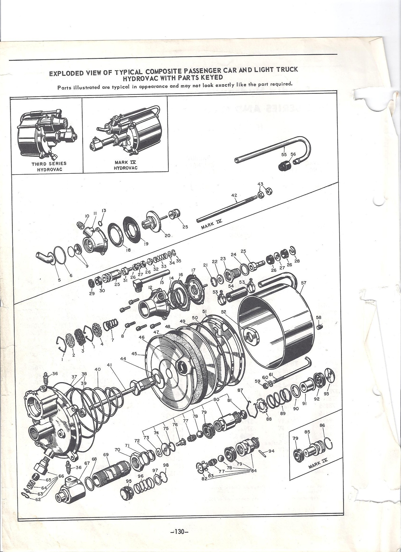 Brake Booster Parts Diagram