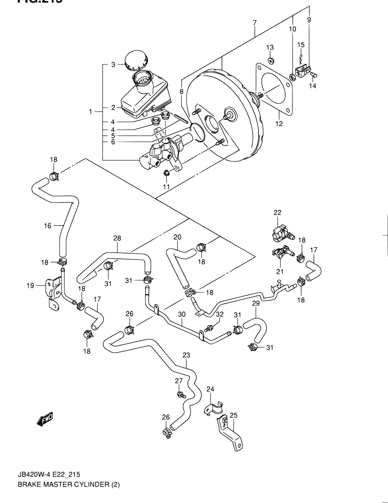 Brake Booster Parts Diagram Hatco Glo Ray Wiring Electrical Middle East Grand Vitara Jb419wd 5 215 Master Of