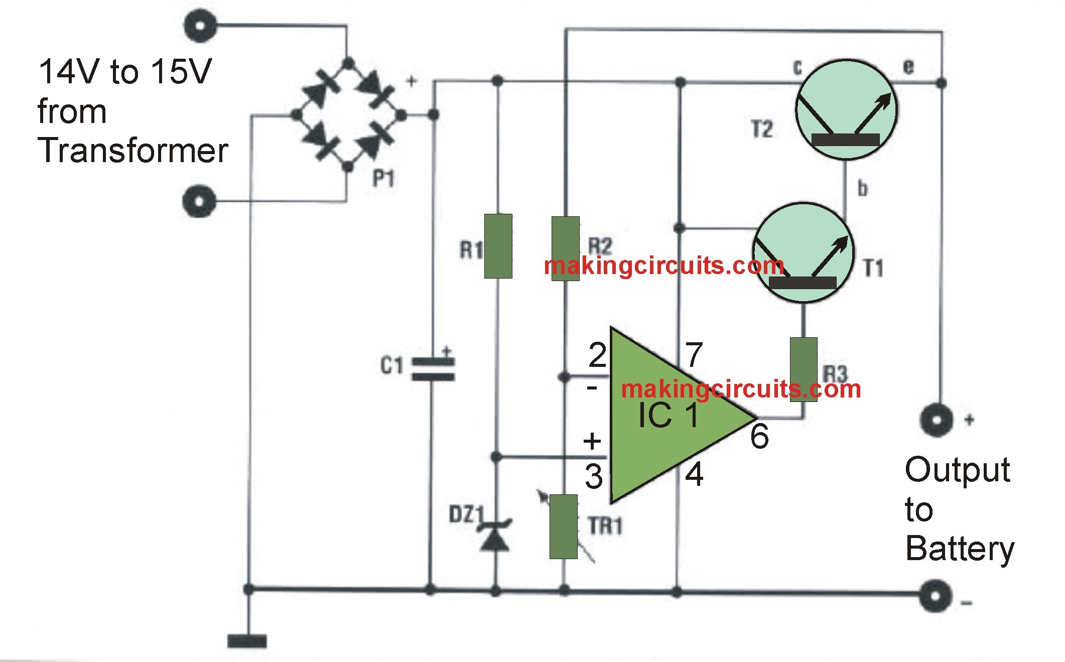 Car Battery Charger Schematic Diagram My Wiring On Schumacher 12v Transformer Unique Automatic Circuit Batteries