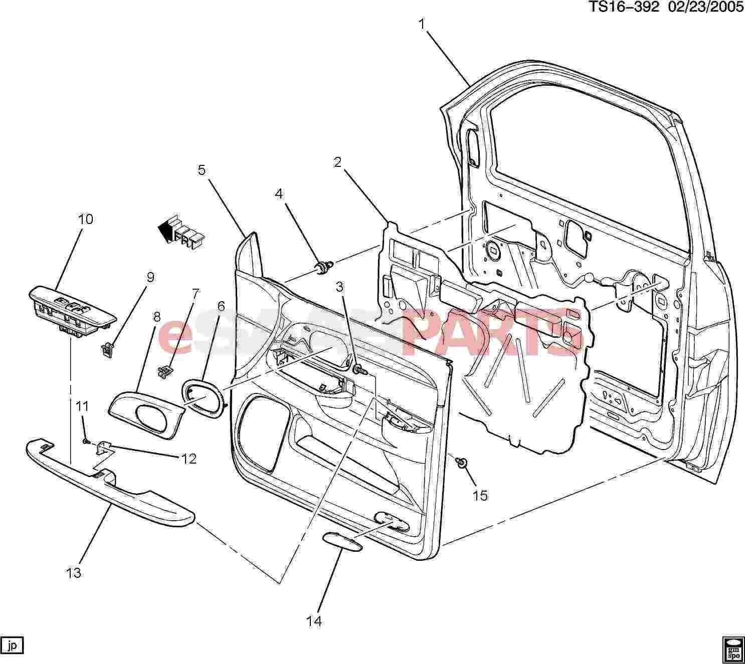 Car Door Part Diagram Esaabparts Saab 9 7x Car Body Internal Parts Door Parts Of Car Door Part Diagram